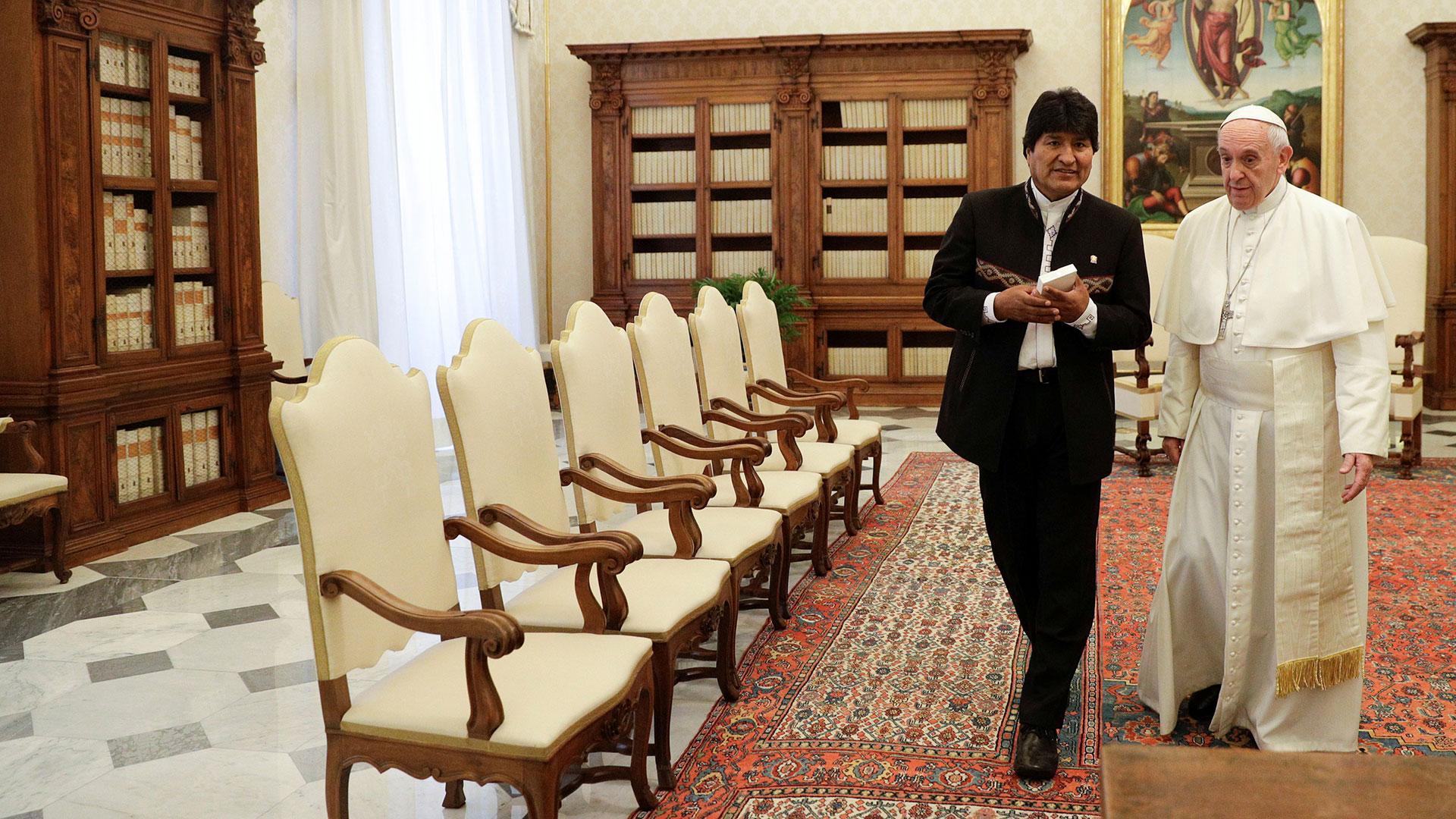 Es el quinto encuentro entre Evo Morales y el papa Francisco (Reuters)