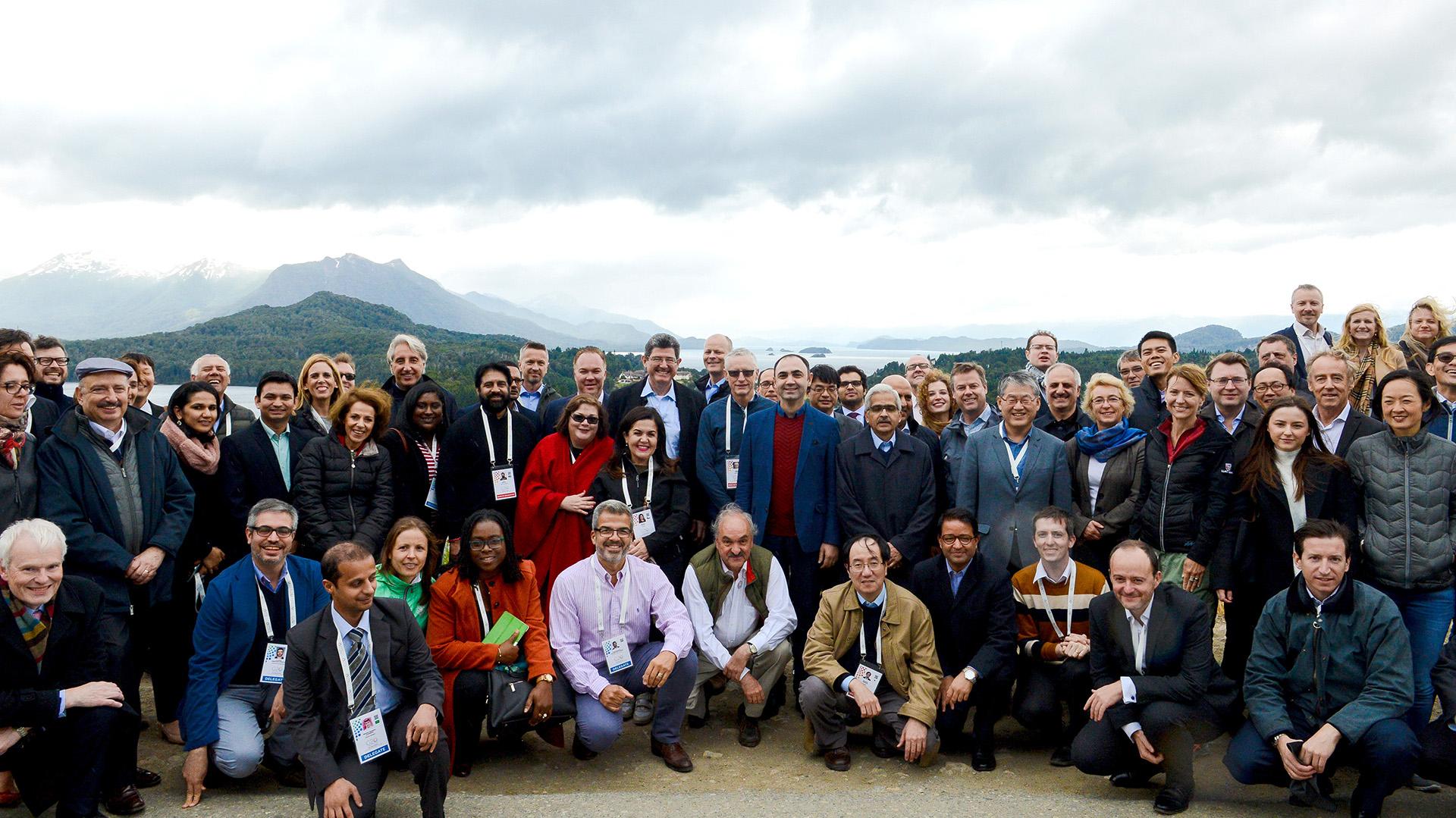 Sherpas y delegados en Bariloche
