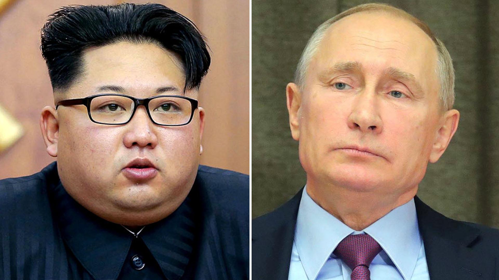 Kim Jong-un y Vladimir Putín