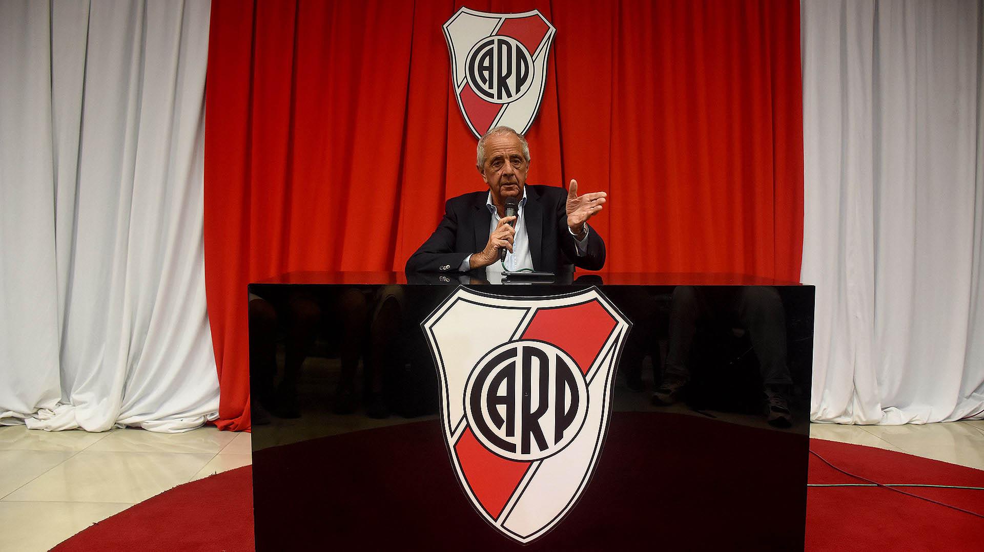 El presidente de River, Jorge Donofrio (Foto: Nicolás Stulberg)