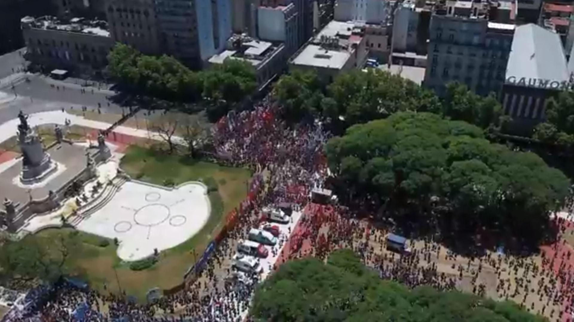 Congreso Marcha Reforma Previsional Drone 2 (2)