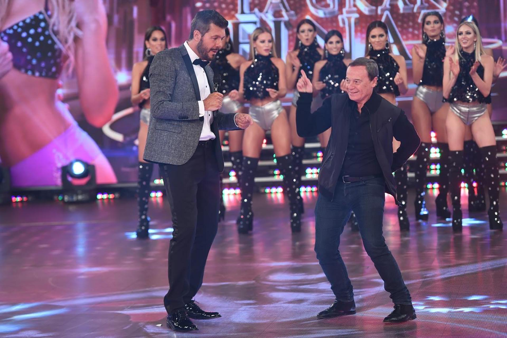 Marcelo Tinelli con Pablo Codevilla