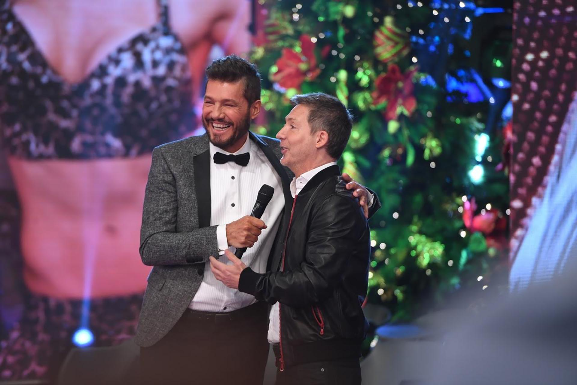 Marcelo Tinelli con Adrián Suar