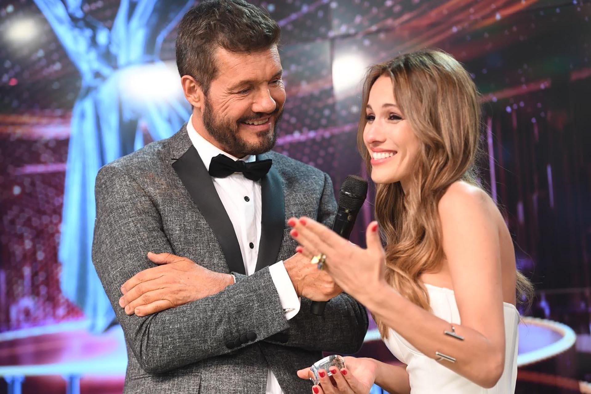 Marcelo Tinelli con Pampita