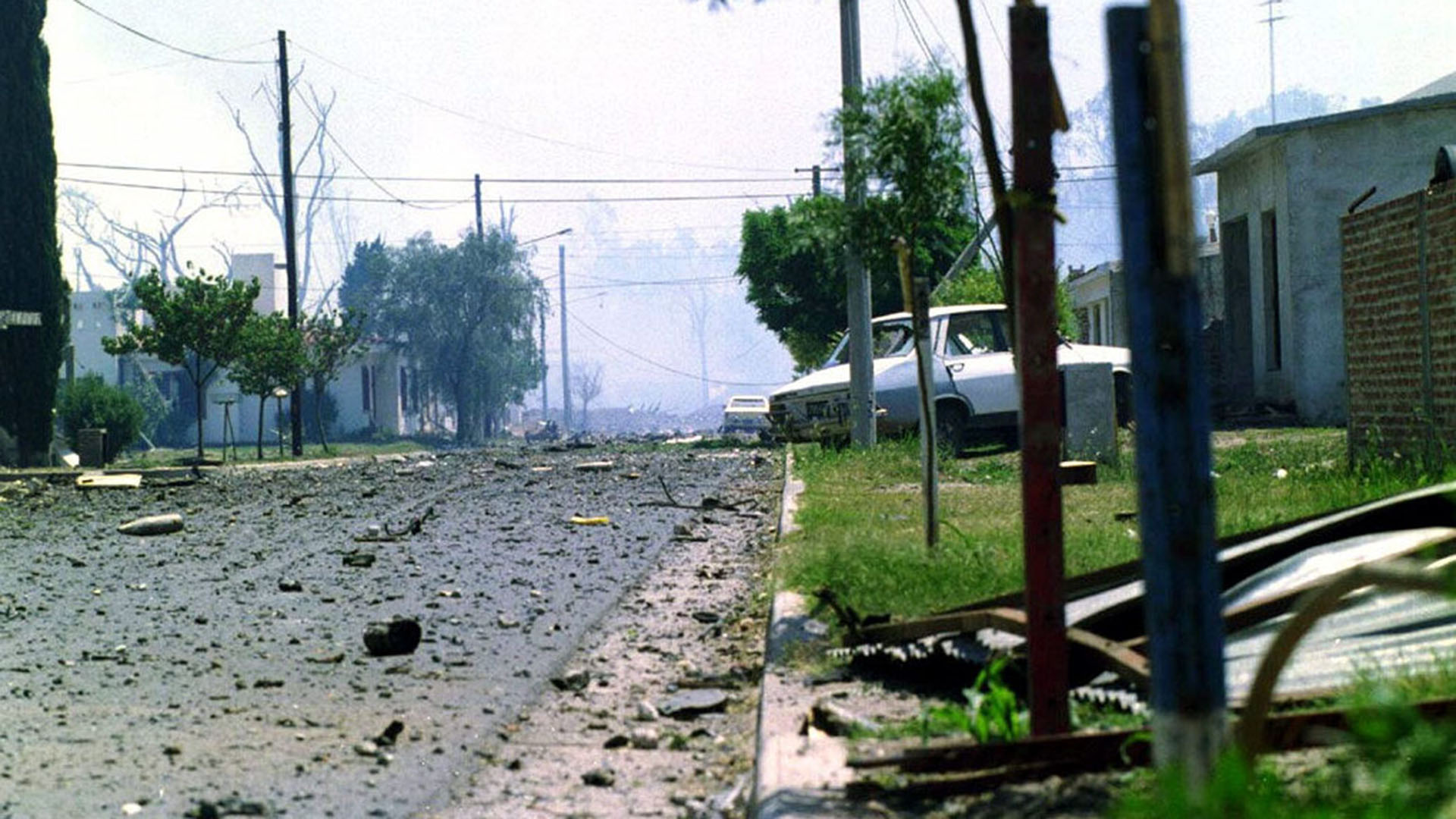 Explosión en Río Trecero, en 1995 (Foto de archivo: NA)