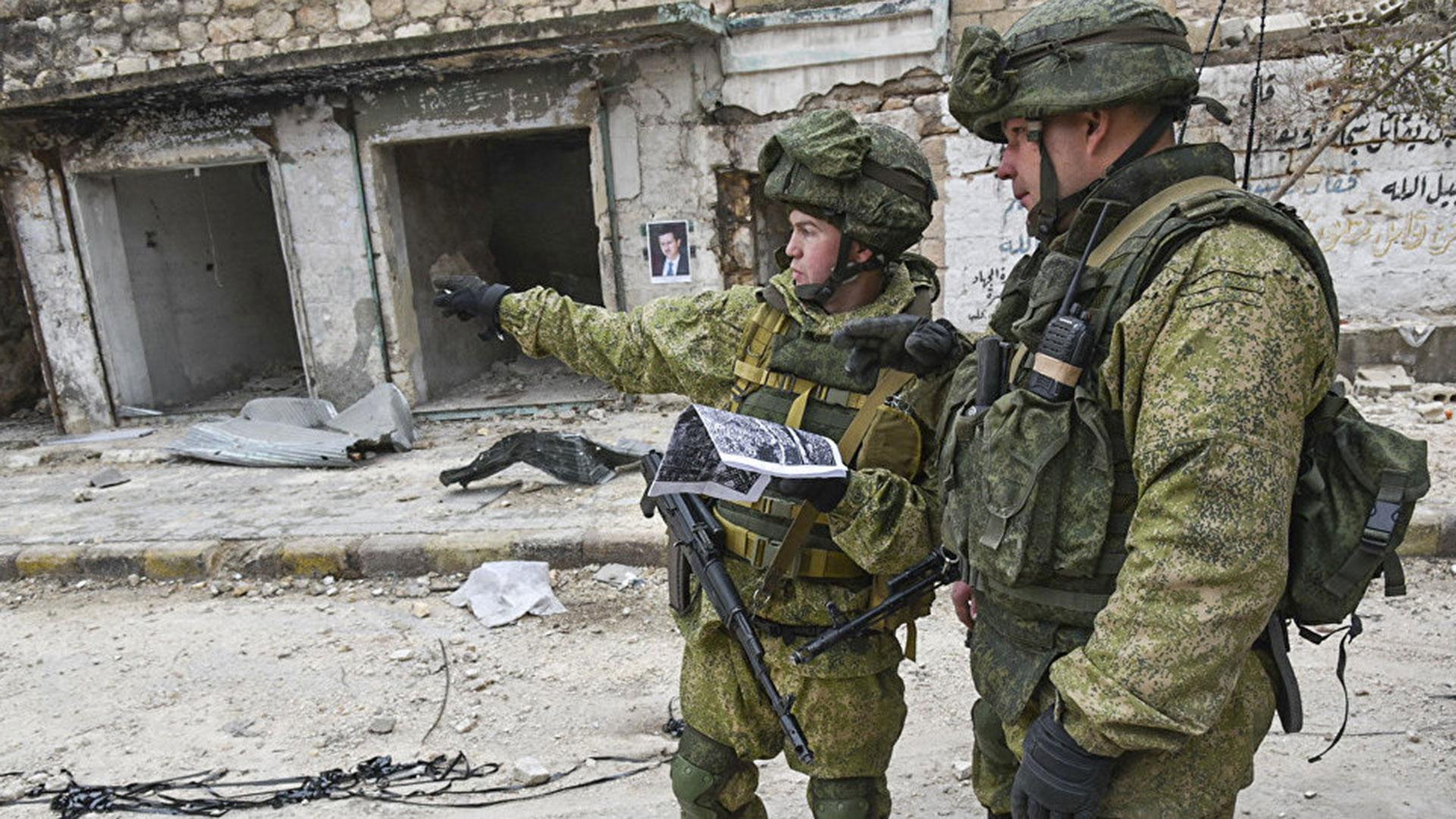 Las Fuerzas rusas oficiales en Siria