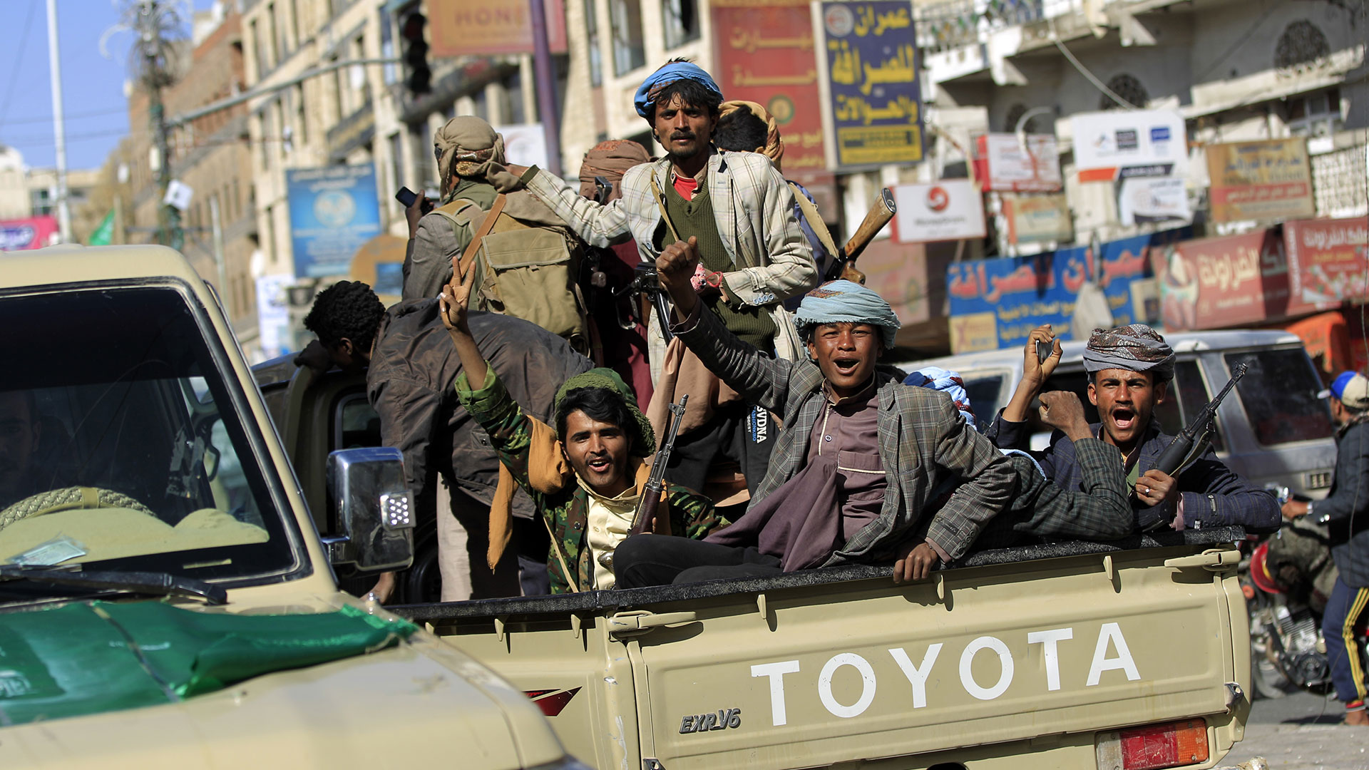 Hutíes en Yemen.