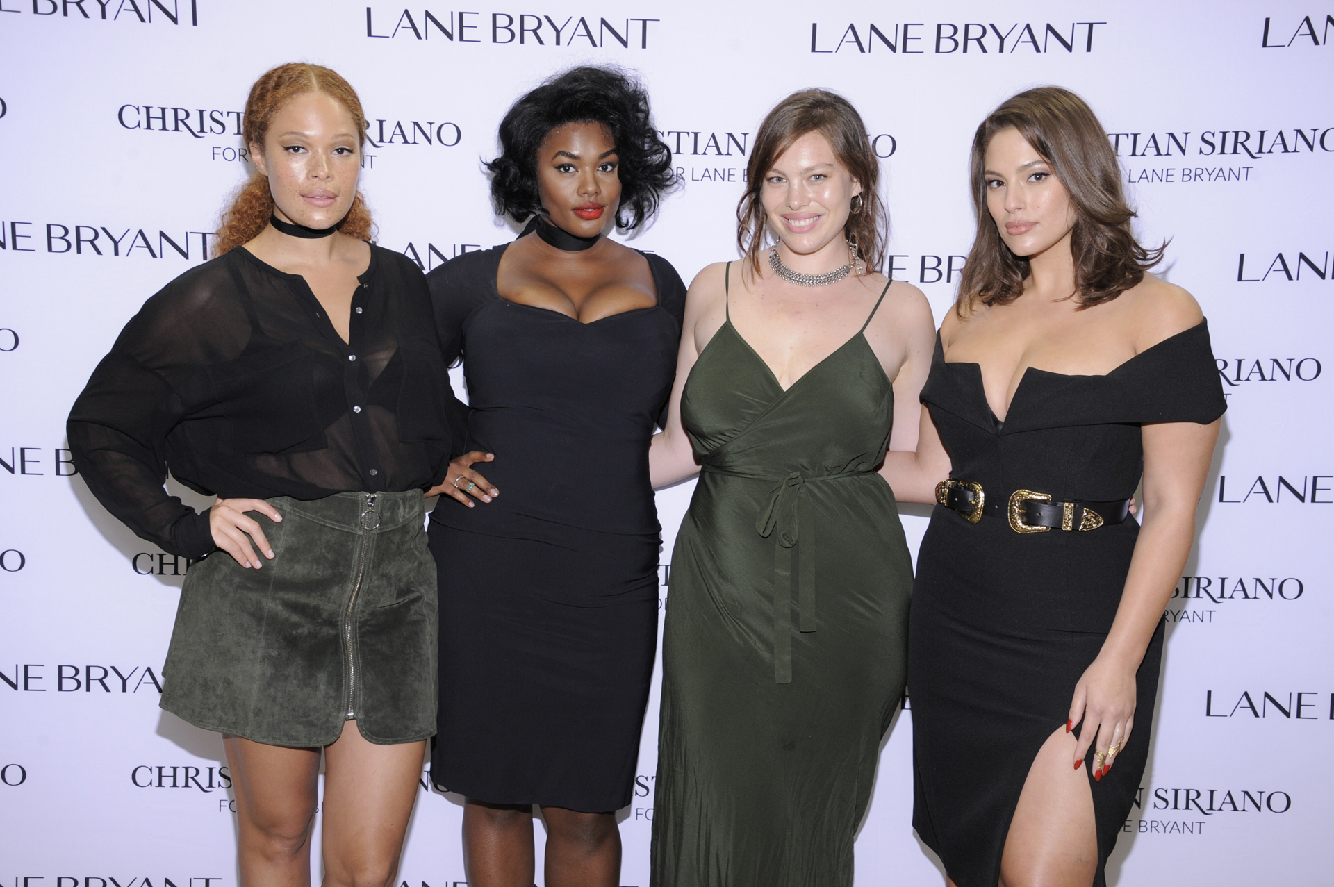 Sabina Karlsson, Precious Lee, Georgia Pratt y Ashley Graham en el desfile de Christian Siriano, donde lucieron sus diseños en la pasarela (Photo by Matthew Eisman/Getty Images for Lane Bryant)