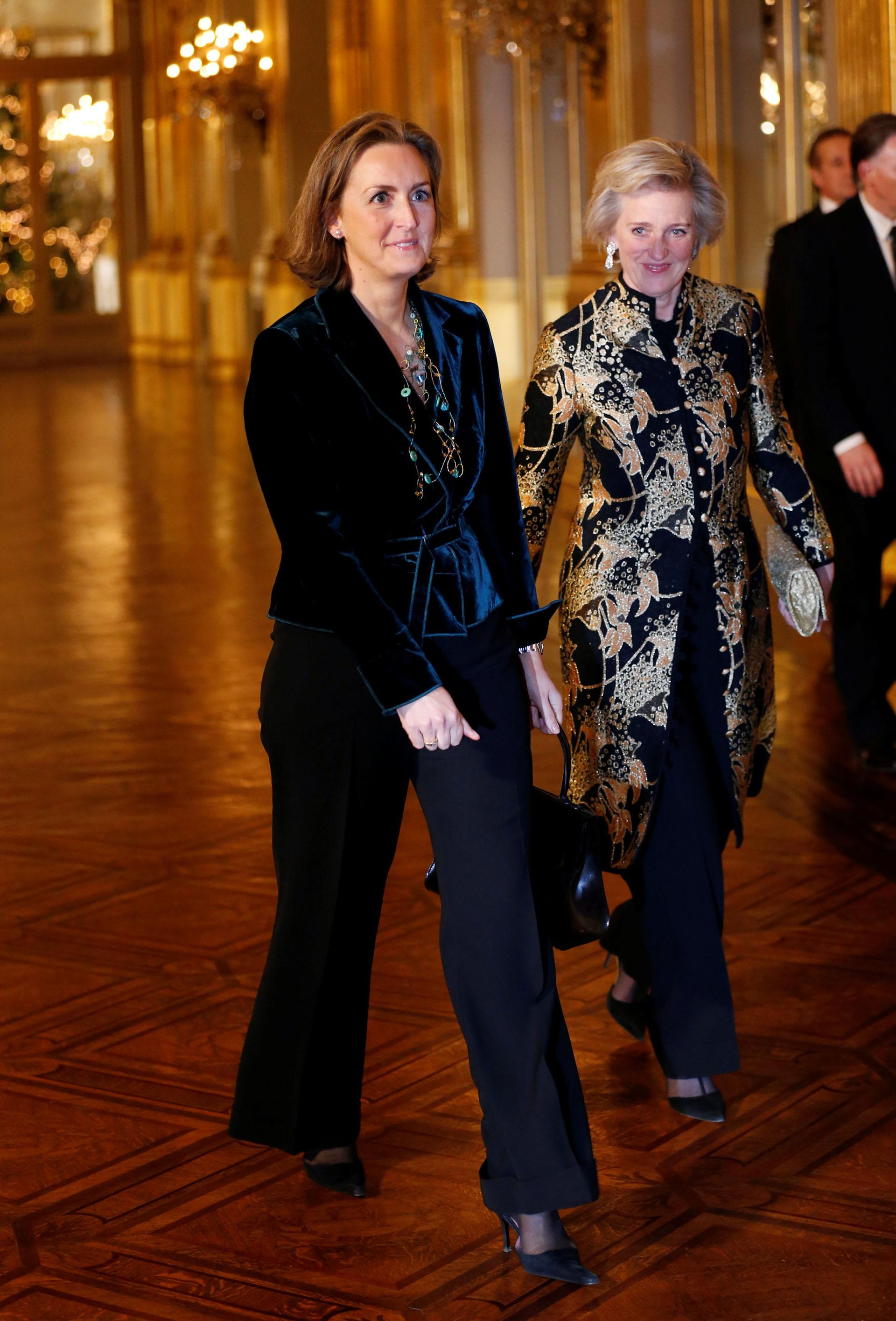 Las llegada de las princesas Claire y Astrid