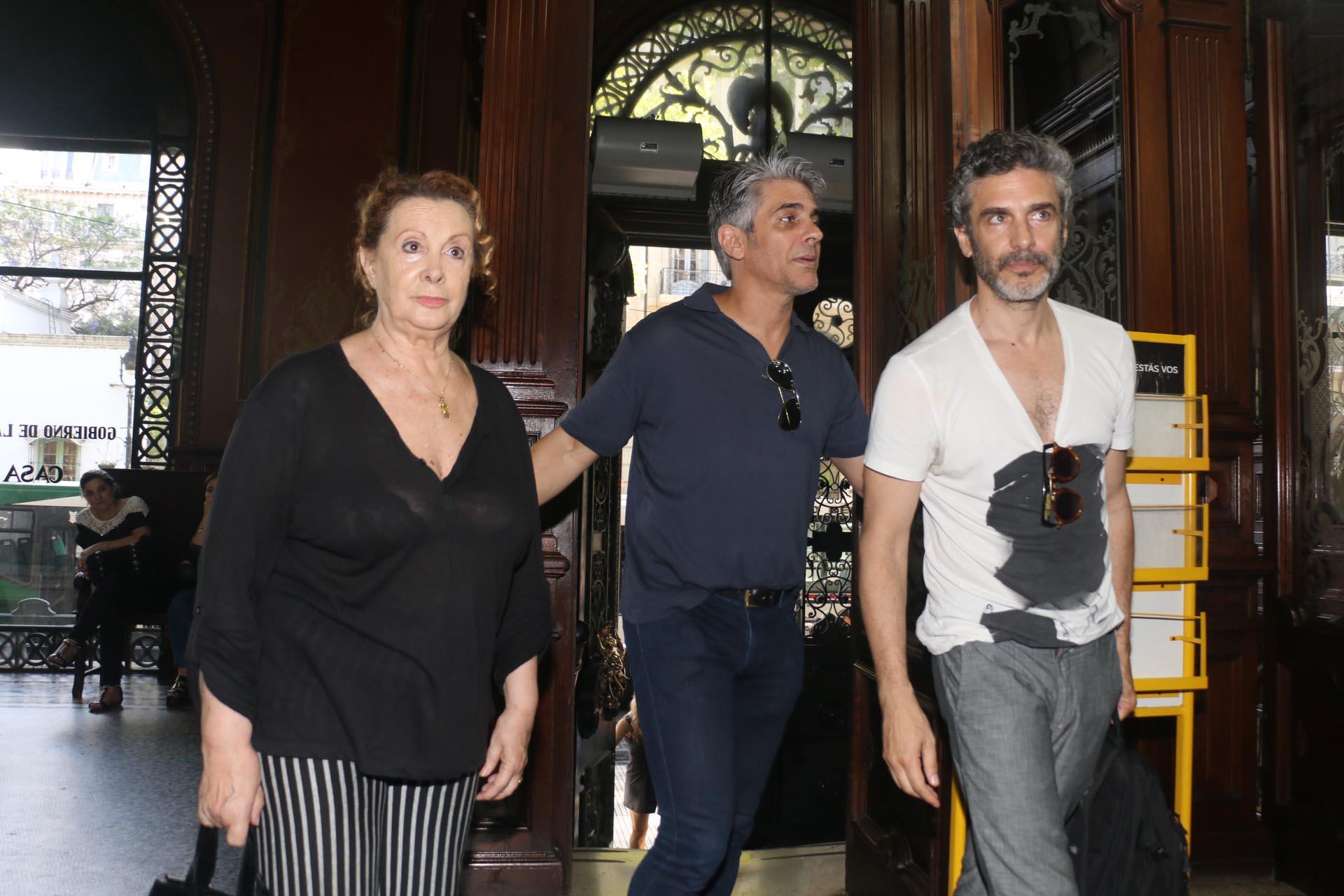 Pablo Echarri, Leonardo Sbaraglia y su mamá, la actriz y directora Roxana Randon