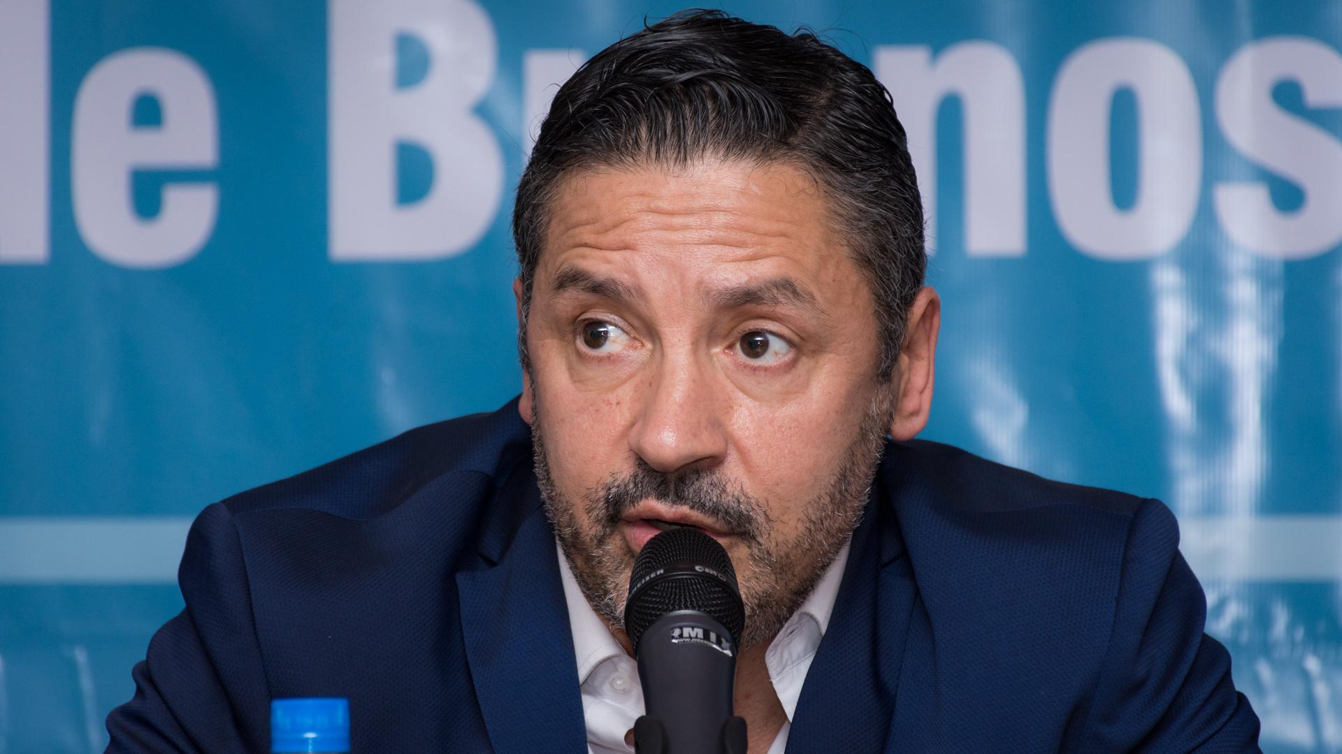 El presidente del PJ Bonaerense, Gustavo Menéndez (Martín Rosenzveig)