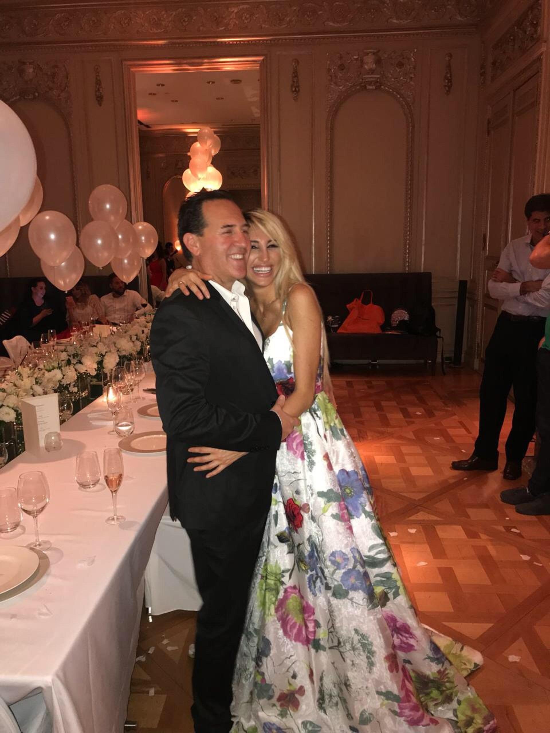 Victoria Xipolitakis y su novio Javier Naselli