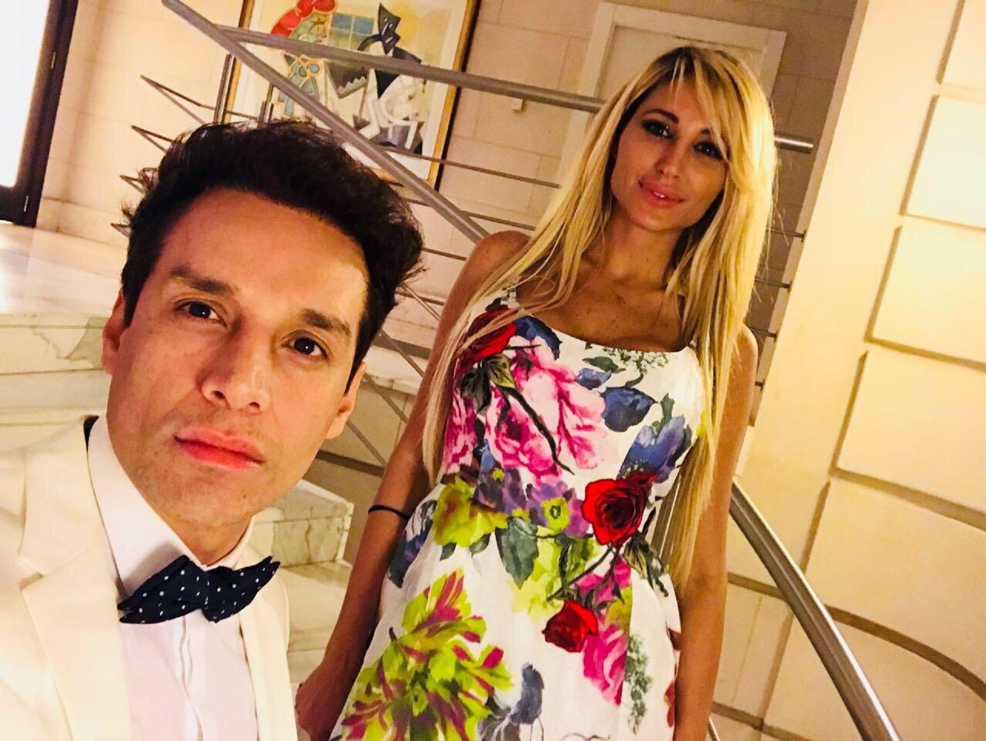 Victoria Xipolitakis y su amigo Galo Sotto