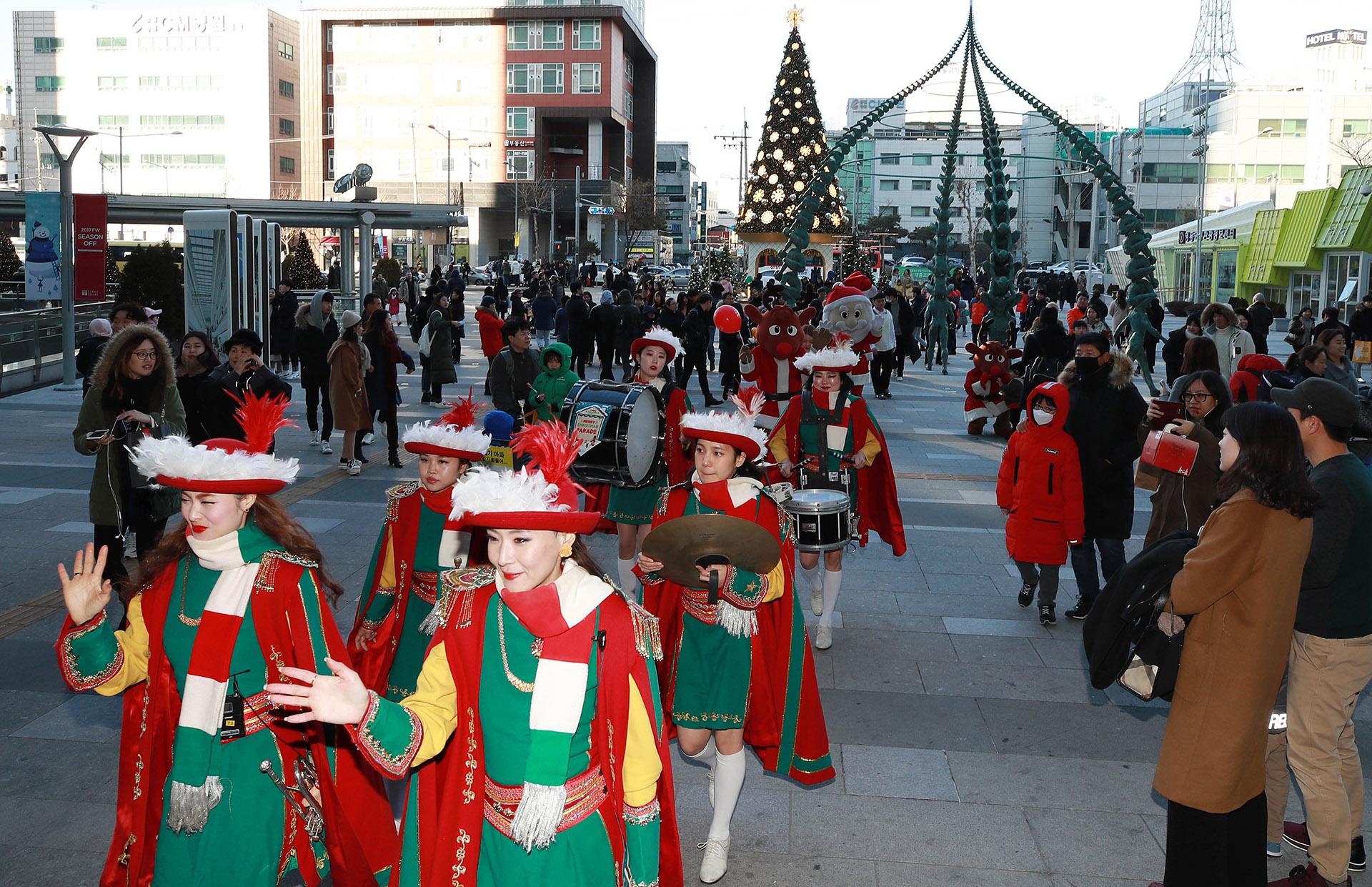 Desfile de Navidad en Corea del Sur