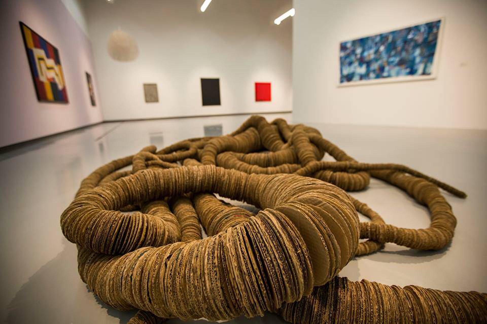La exhibición se organiza en cuatro núcleos temáticos que no siguen una línea cronológica: Paisaje y territorio, Visiones sobre la subjetividad, Los cambios sociales, y Vanguardia y abstracción
