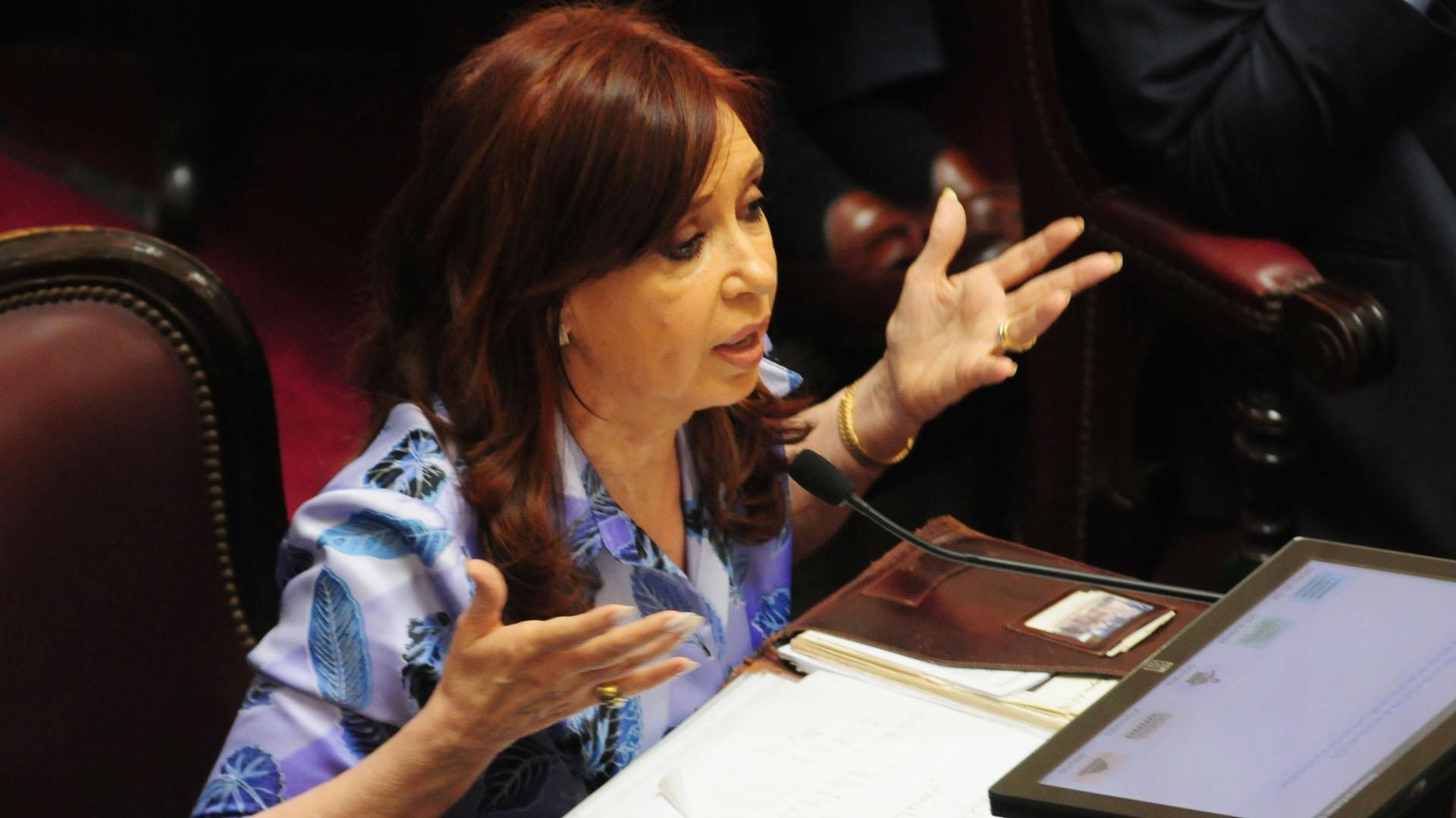 Cristina Kirchner en el Senado (Maximiliano Luna)
