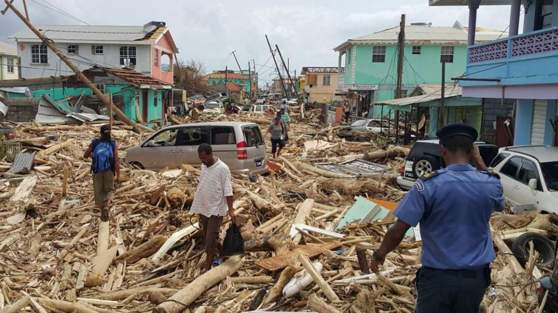 Estragos del huracán María en Puerto Rico