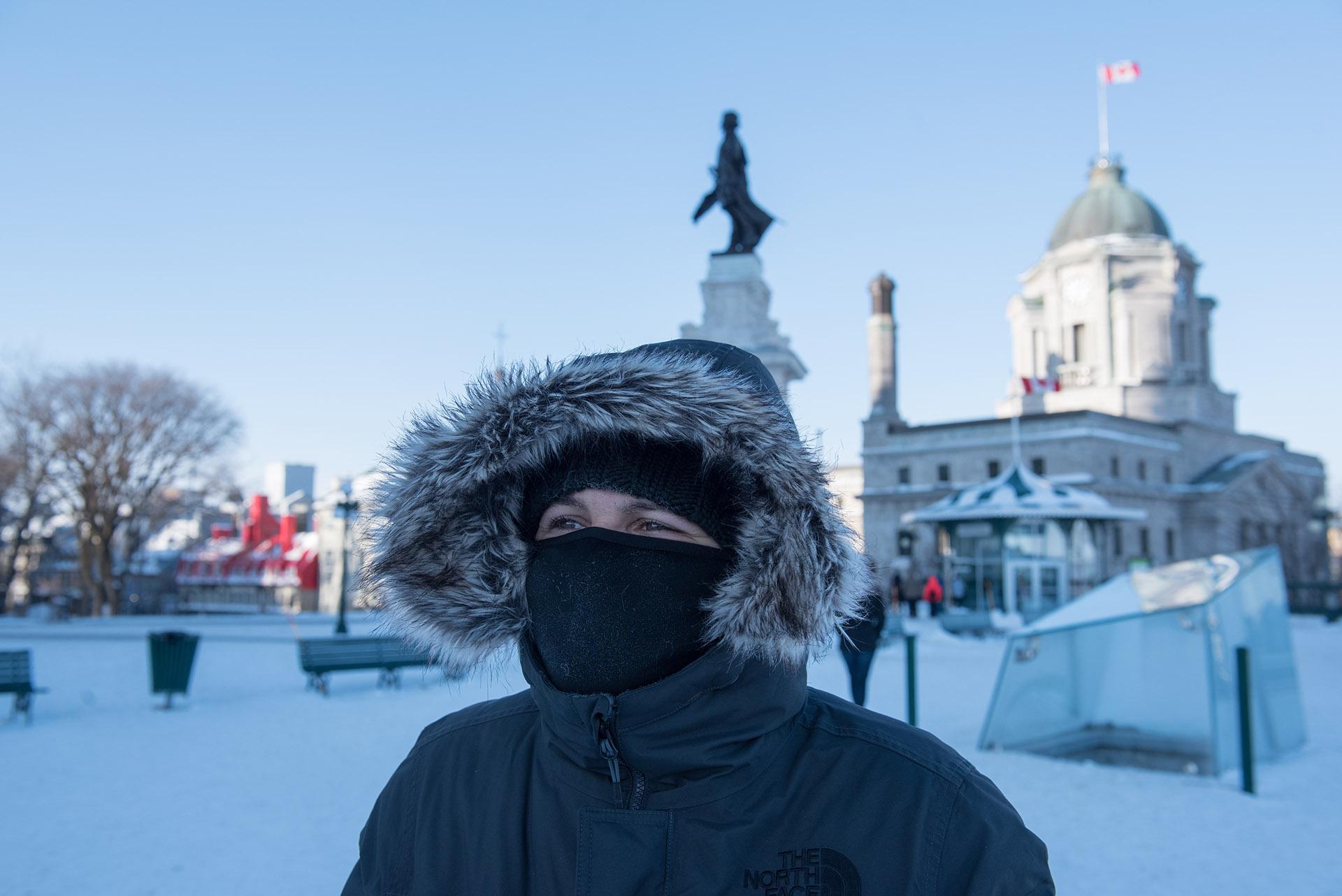 En algunos sectores de Canadá se estiman temperaturas de casi -50° (AFP)