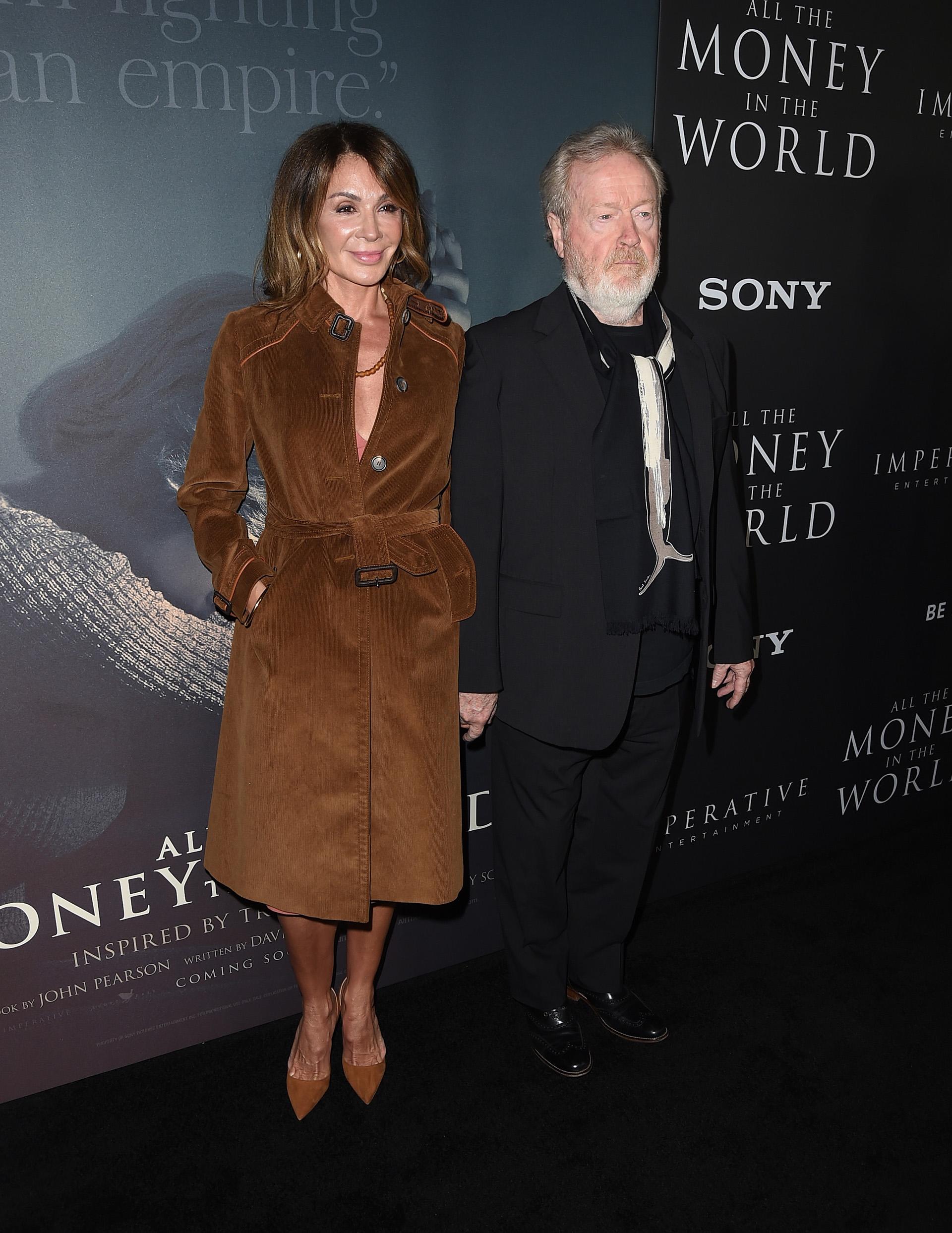 Giannina Facio y Ridley Scott
