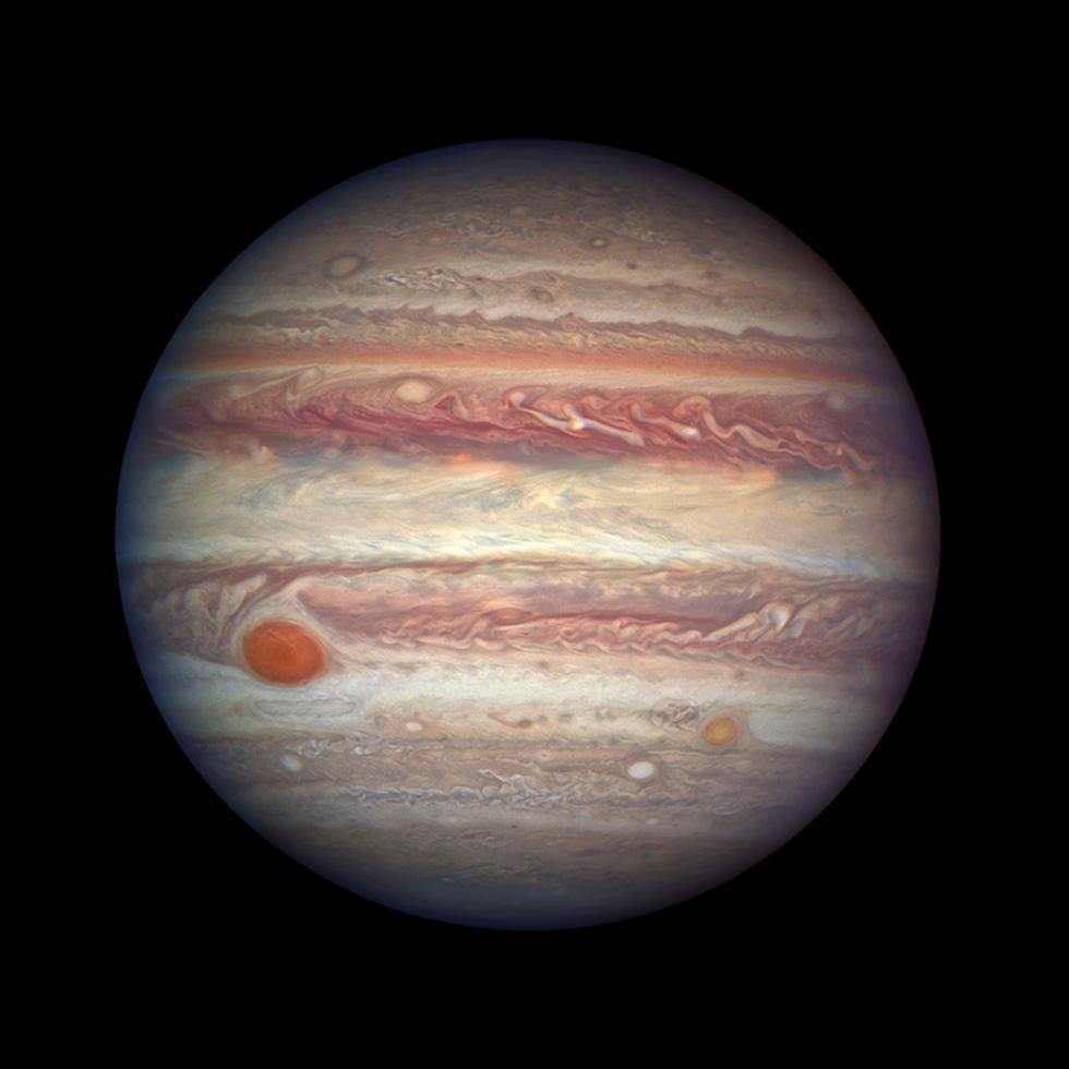 Foto de Júpiter tomada por el telescopio espacial Hubble (NASA, ESA e A. Simon del NASA Goddard)