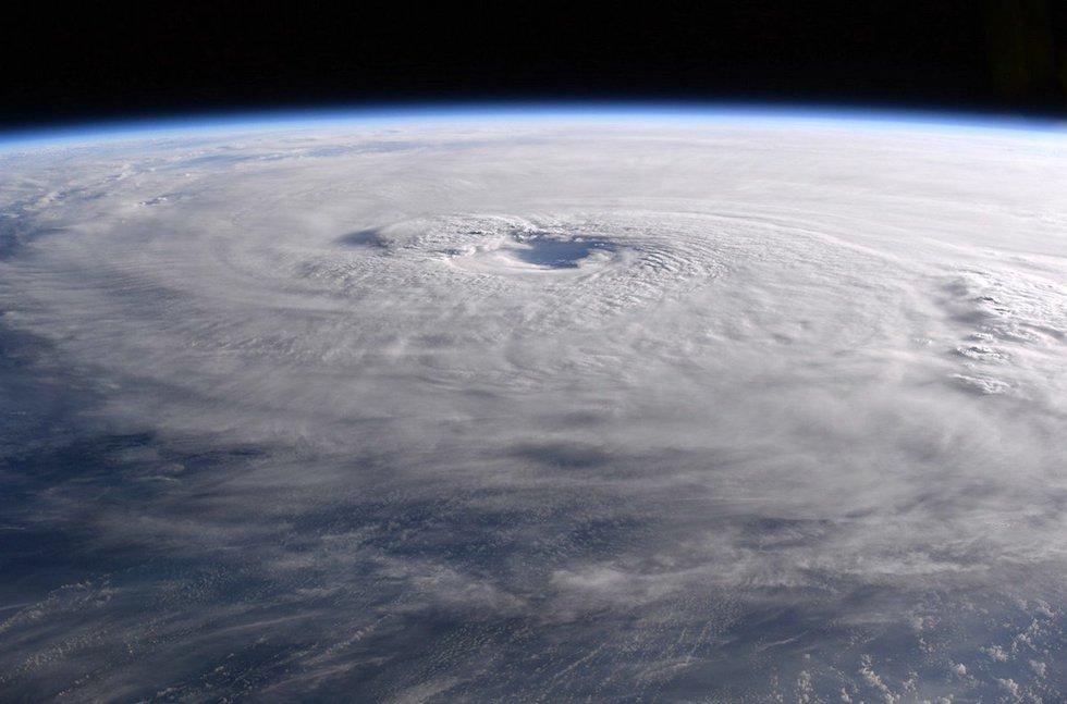 El huracán María durante su paso por el Caribe fotografiado desde la Estación Espacial Internacional (Paolo Nespoli, ESA/NASA)