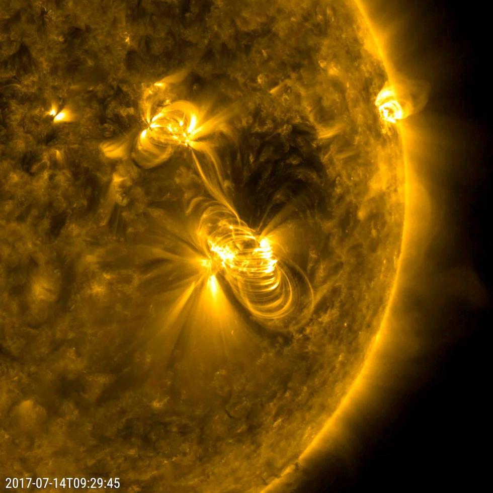 Foto de la intensa actividad solar (NASA/GSFC/Solar Dynamics Observatory)