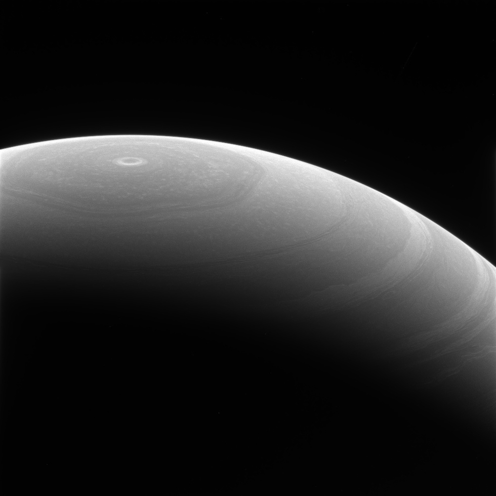 El polo norte de Saturno (NASA.gov)