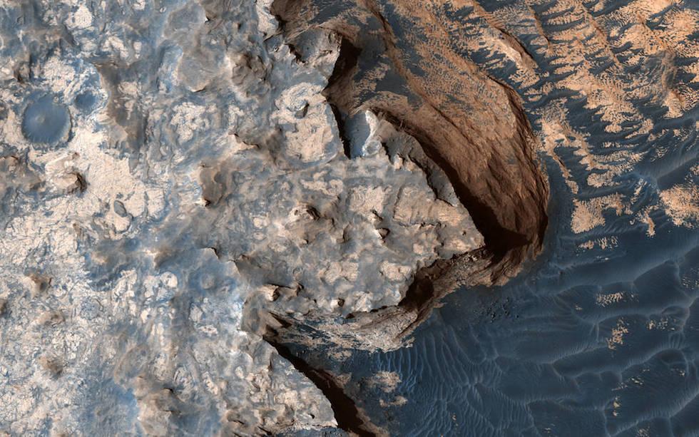 Foto de los Meridiani Planum, una gran llanura cerca del ecuador de Marte, tomada por la sonda Mars Reconnaissance Orbiter (NASA/JPL/University of Arizona)