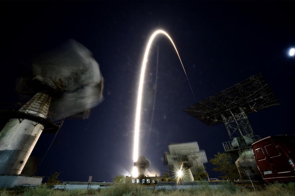 Foto del lanzamiento de la Soyuz MS-06 (Kirill Kudryavtsev/AFP/Getty Images)
