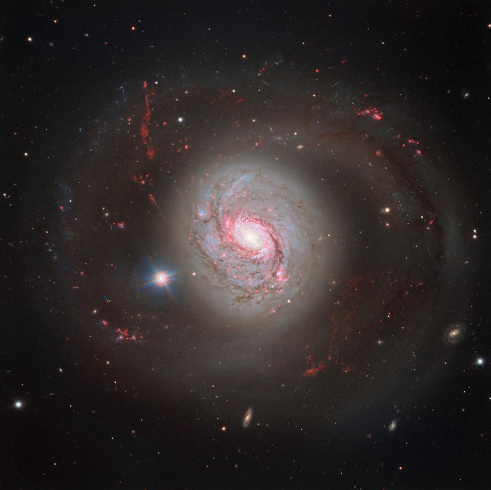 La galaxia a espiral M77 observada desde el Very Large Telescope del European Southern Observatory en Chile (ESO)
