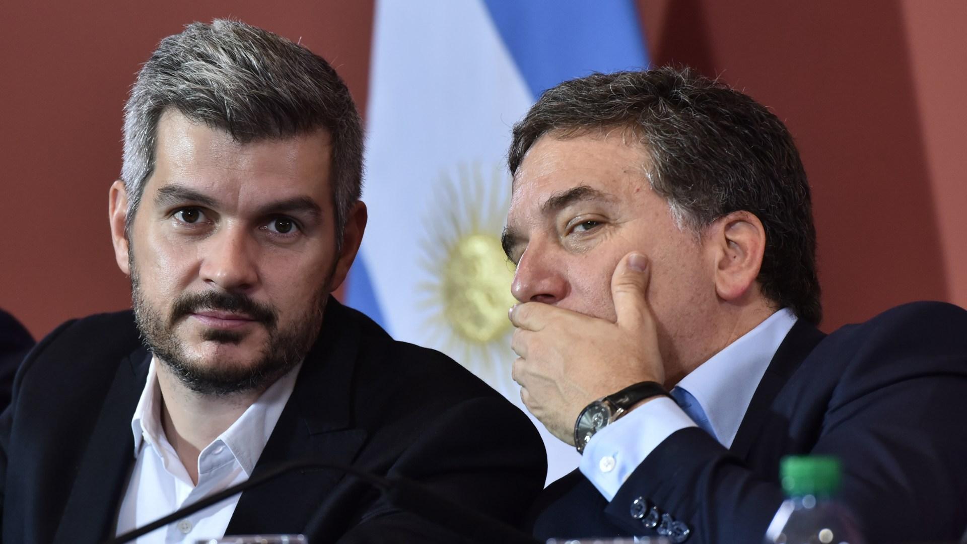 El Jefe de Gabinete de Ministros y el Ministro de Hacienda difundieron el desagregado del plan de gastos para el corriente año, aunque pueden disponer modificaciones (Adrián Escandar)