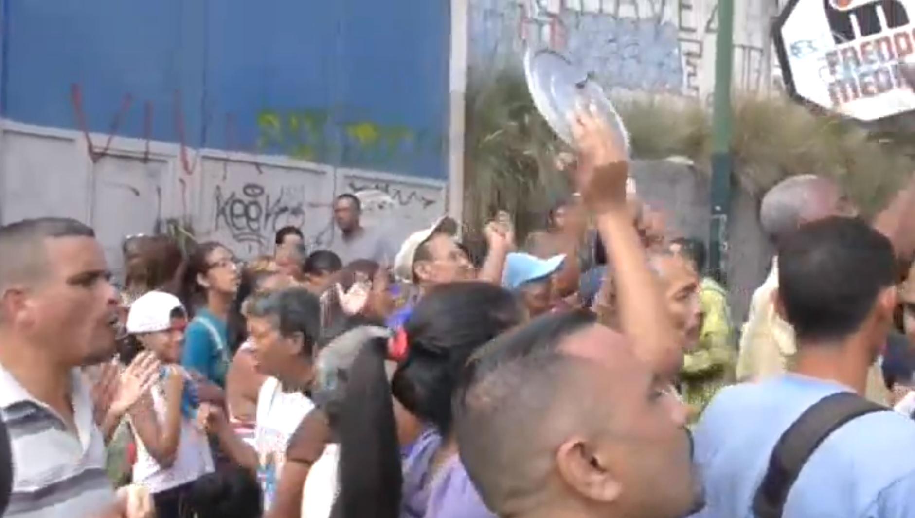 Desde hace semanas en Venezuela se registran protestas por la falta de comida