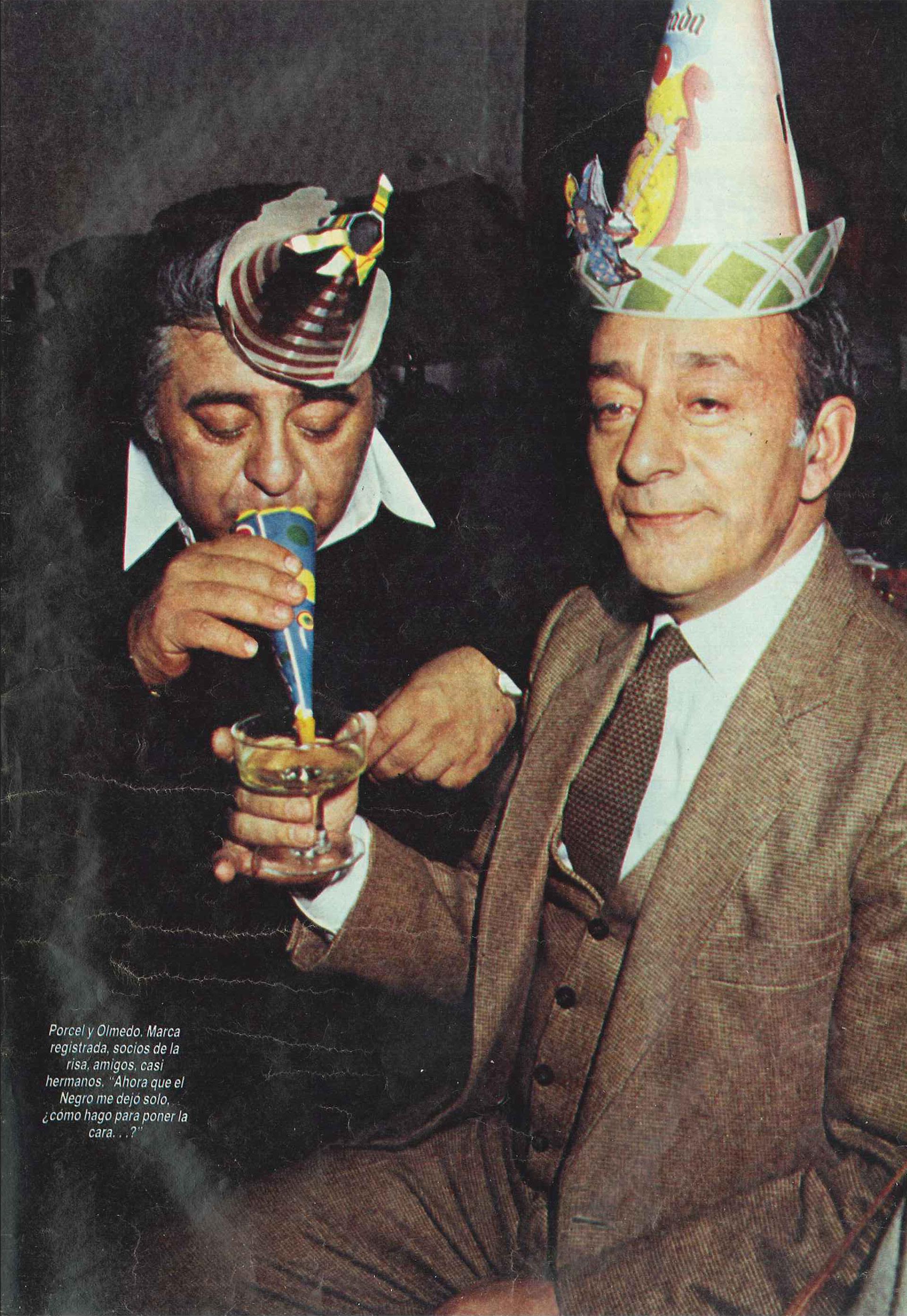 Olmedo y Jorge Porcel (Foto: Revista Gente)