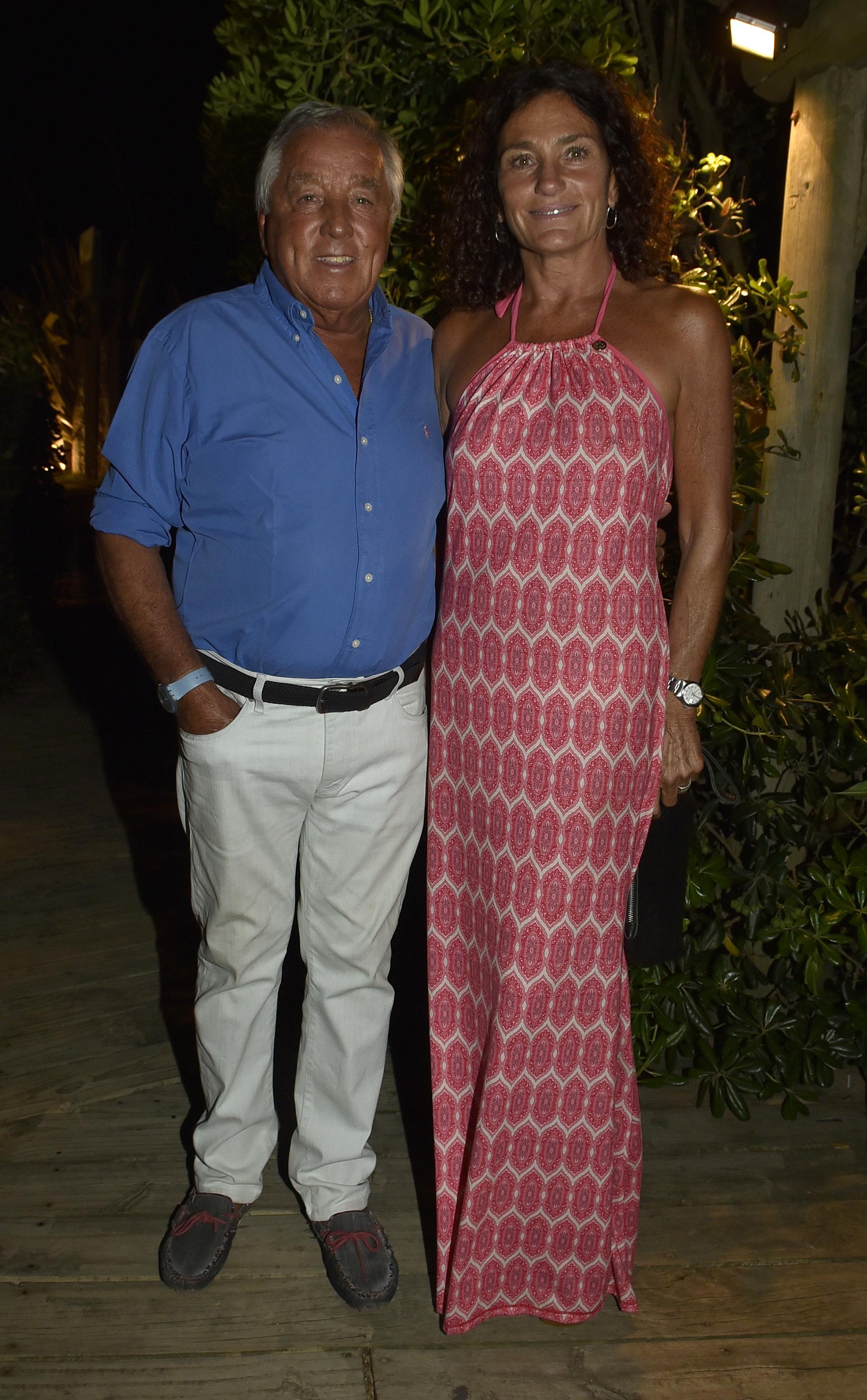El presidente del Gruppo Modena, Julio De Marco, y Alejandra Stefani