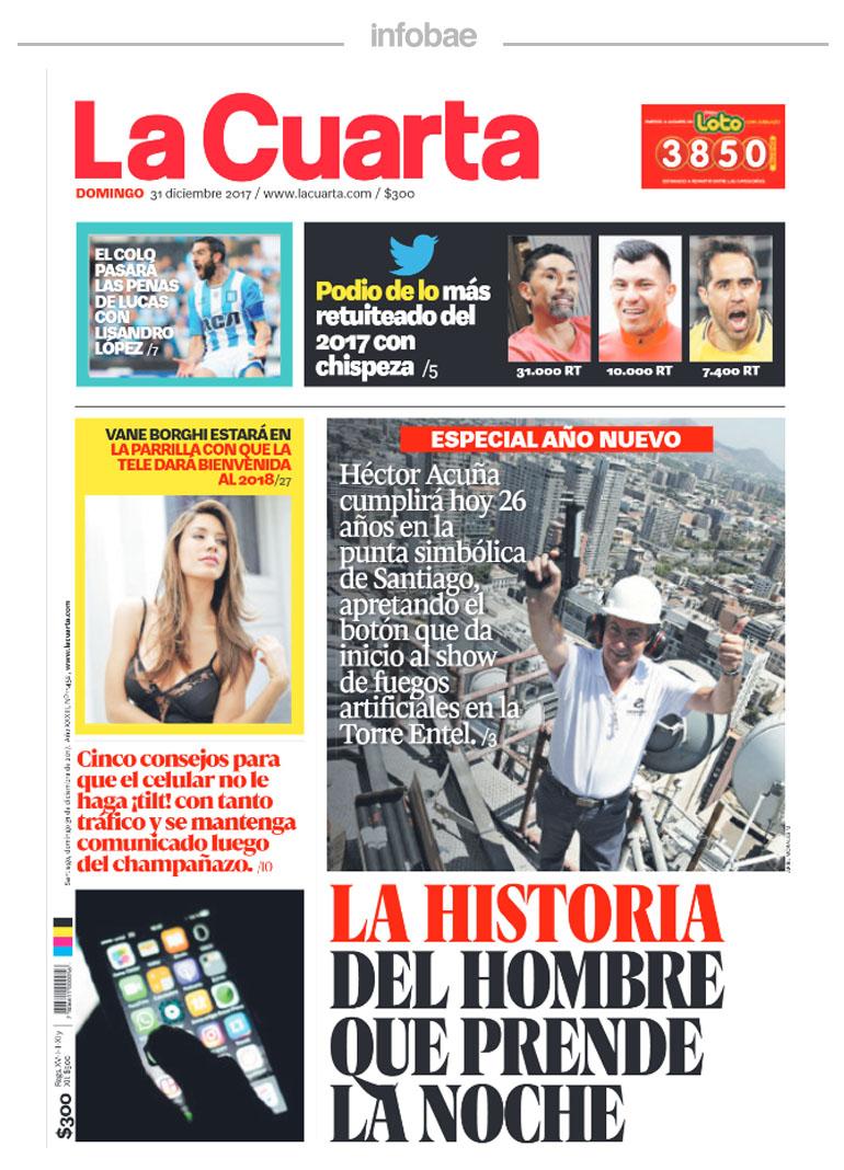 La cuarta, Chile, 31 de diciembre de 2017 | FM Laser 103.5 - Tucumán