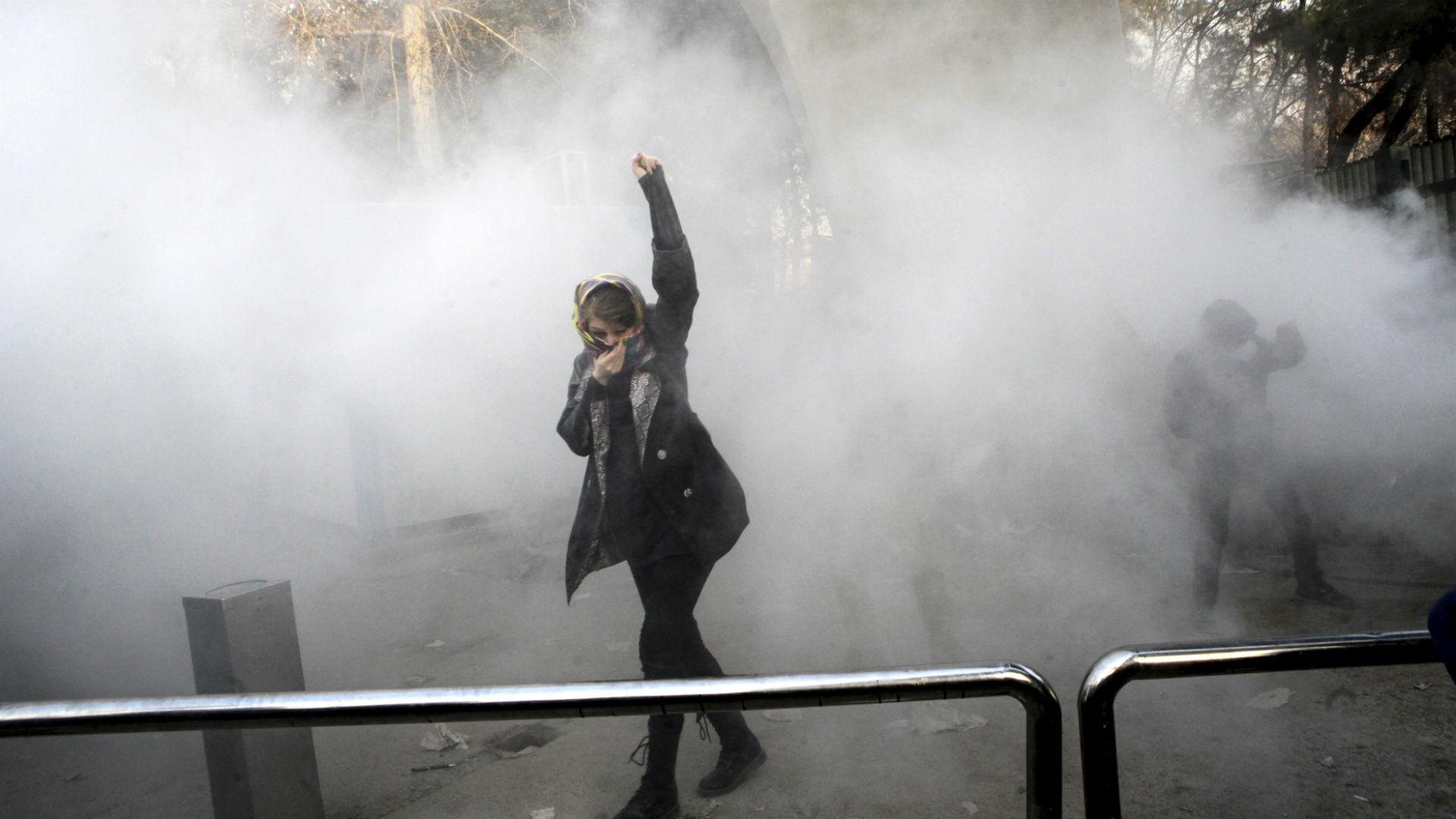 Las protestas en Iránle dieron motivos a Trump para aplicar nuevas sanciones