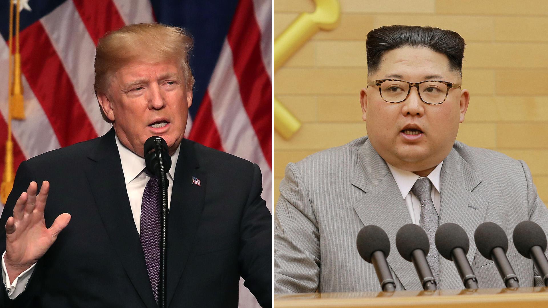 El presidente estadounidense, Donald Trump, y el líder norcoreano, Kim Jong-un (Getty / Reuters)