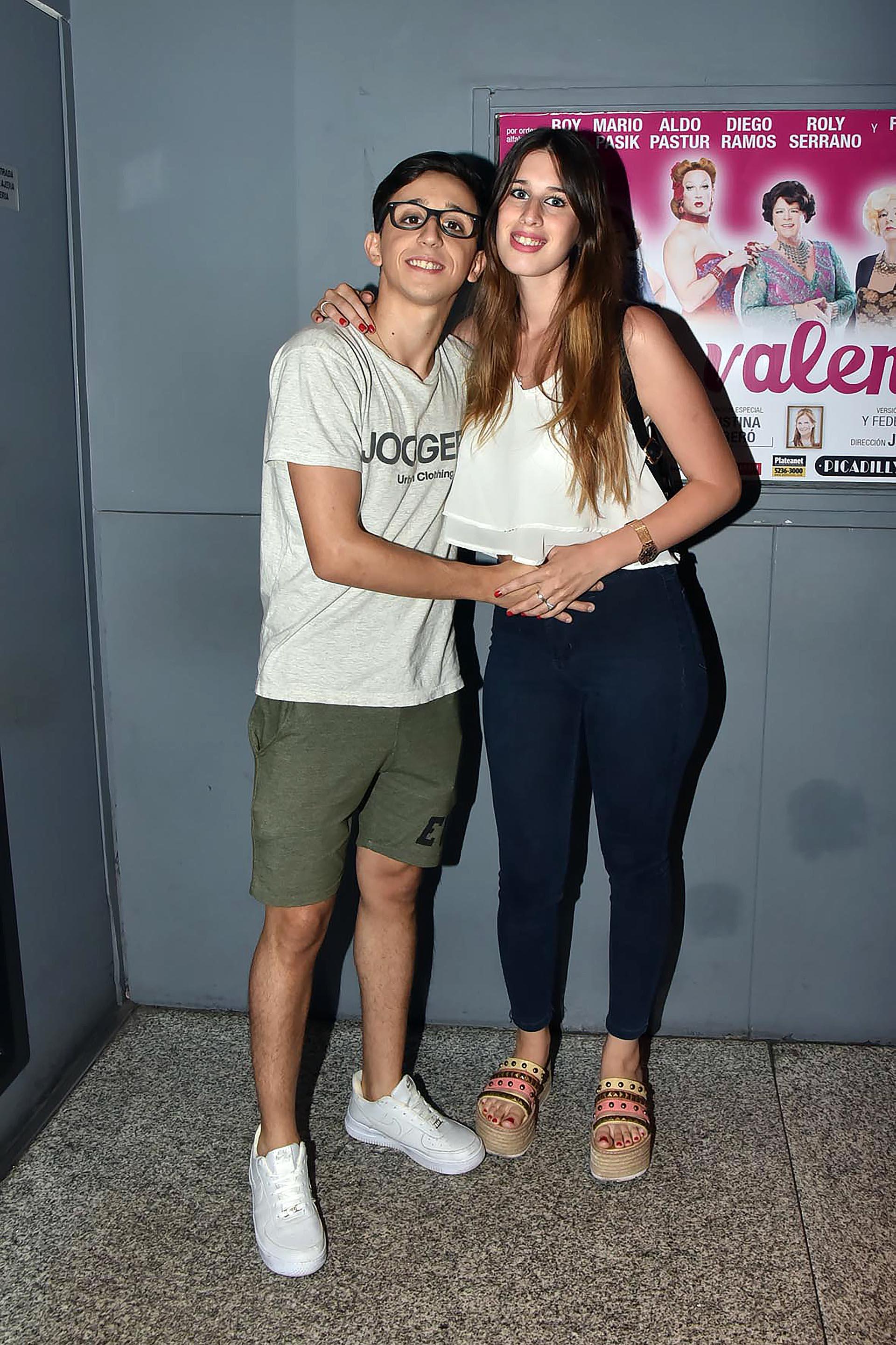 Rodrigo Noya y su novia Sofía Sorrenti