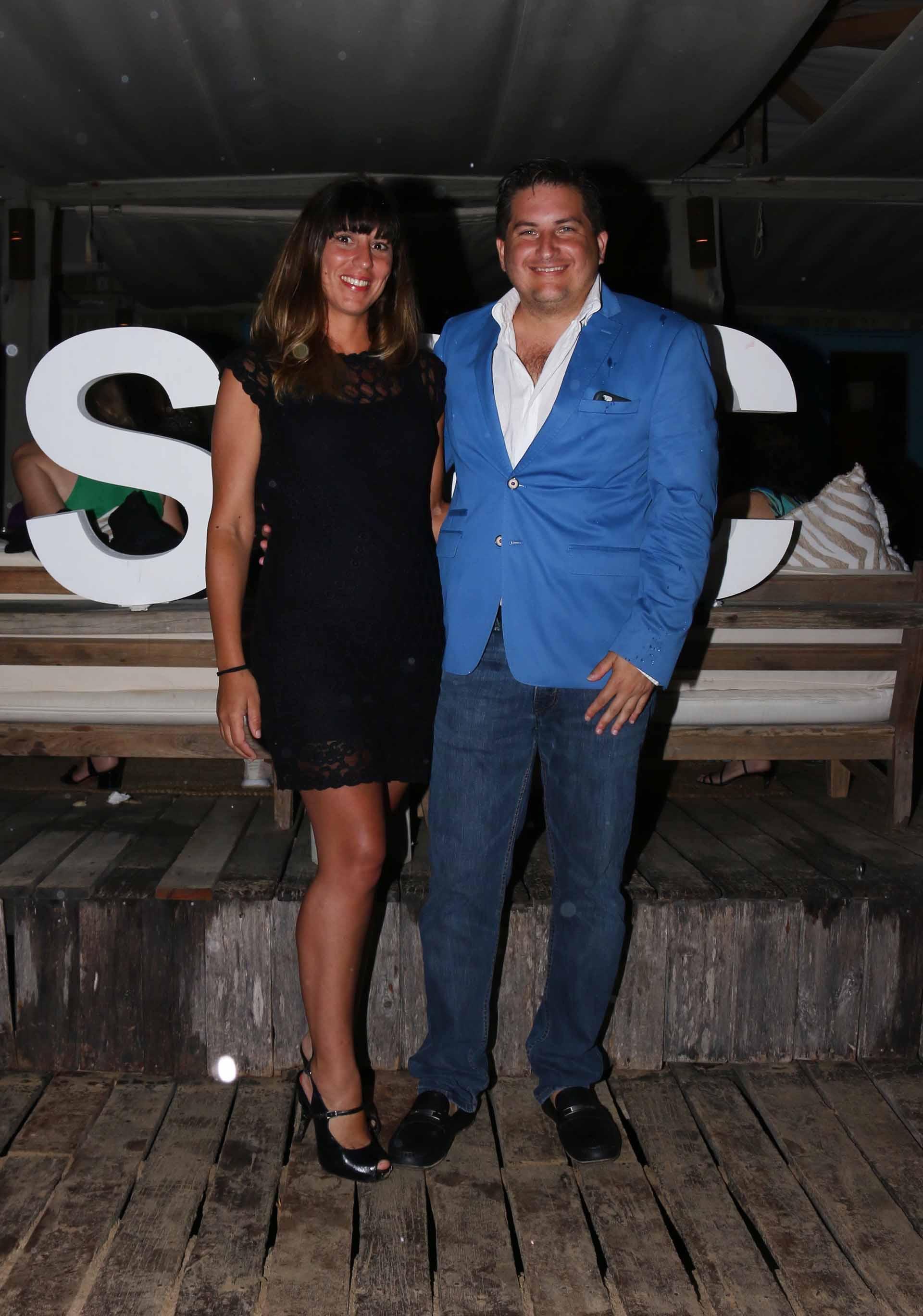 Gastón Corral, director de Sustentabilidad Corporativa de HSBC Argentina, y su mujer Romina Sasso