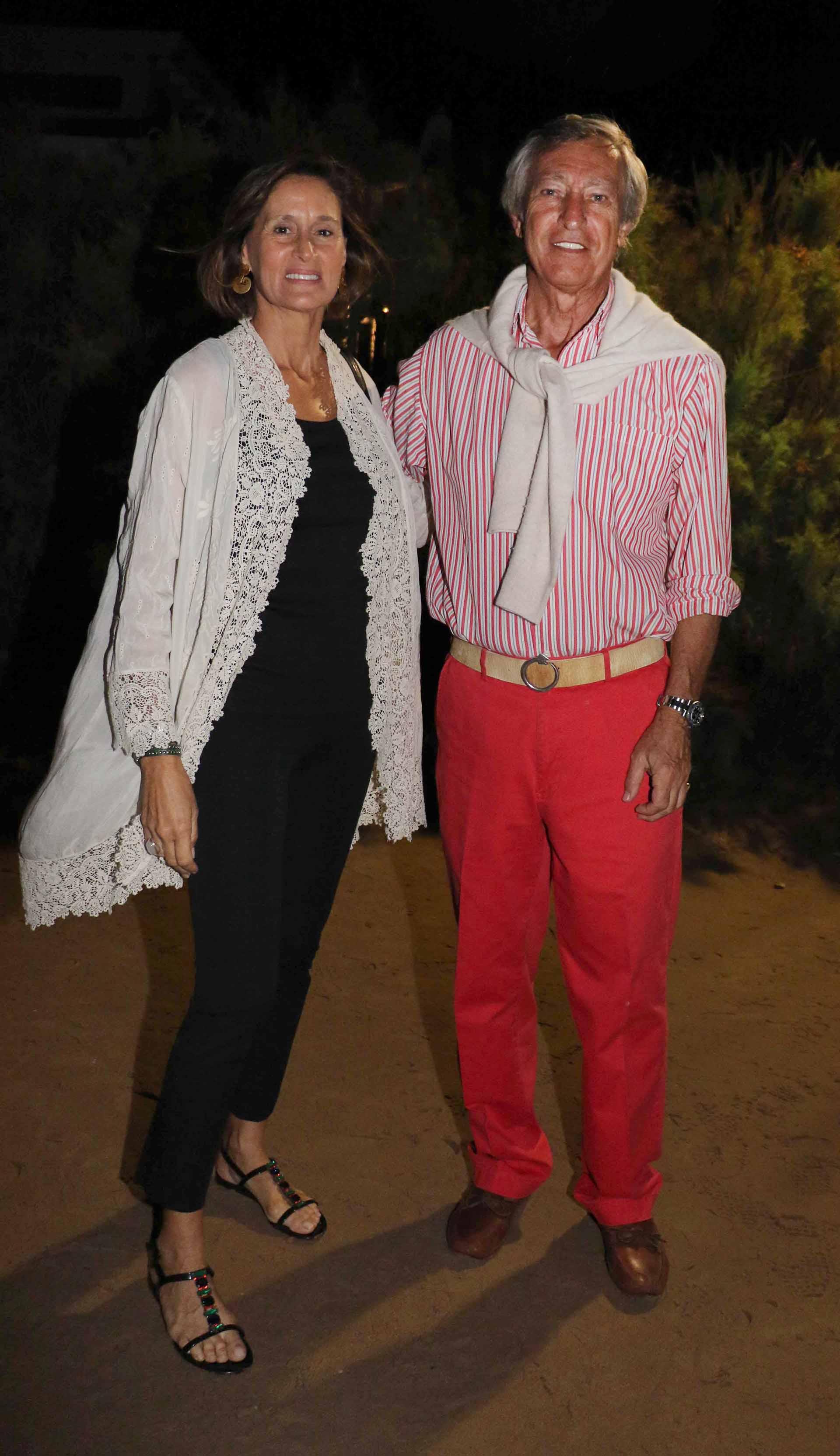 El empresario Germán Neuss y su mujer Gabriela Flores Pirán