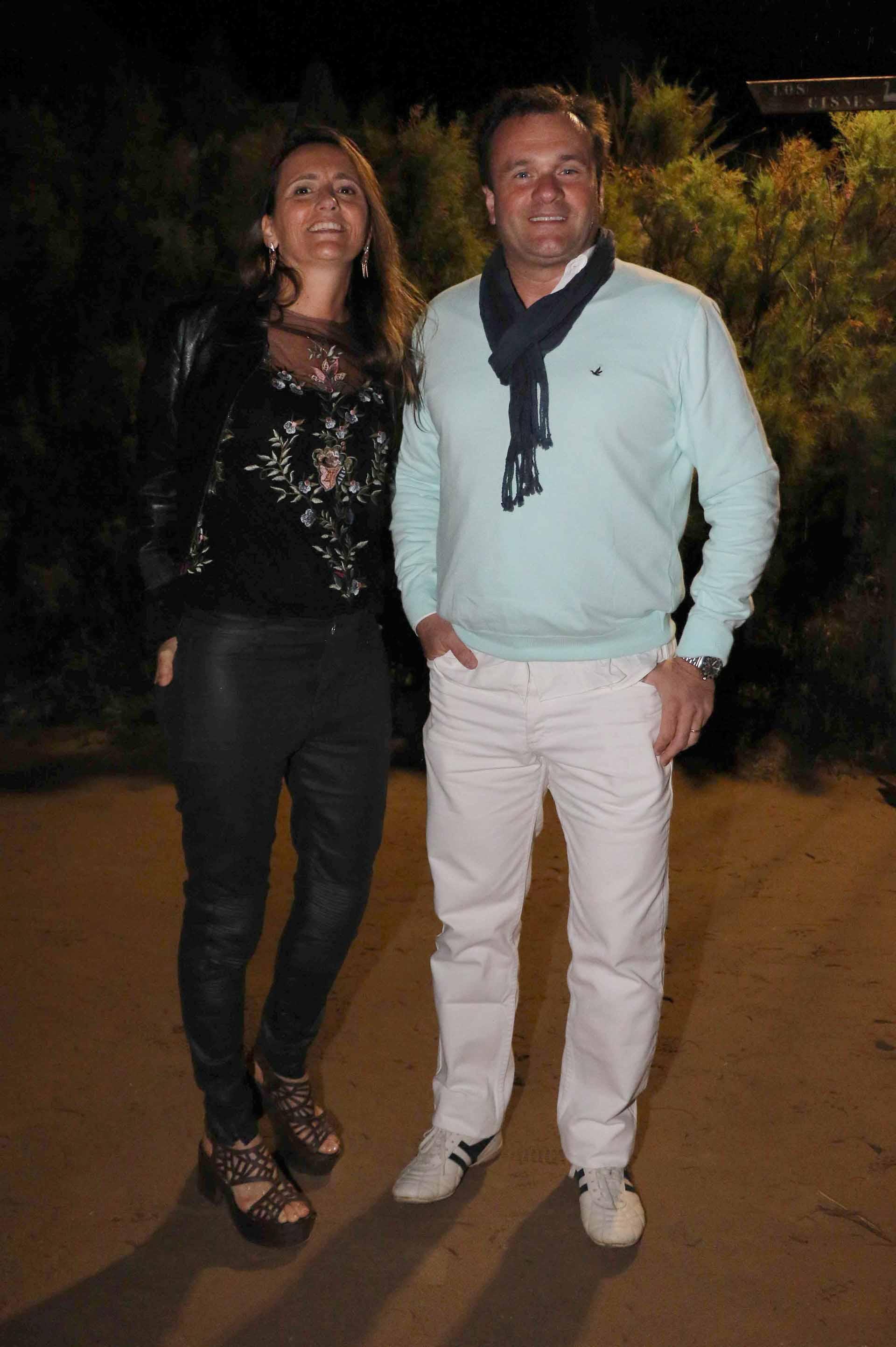 El director de Relaciones Institucionales de La Rural, Juan Pablo Maglier, y su mujer Magdalena Maglier