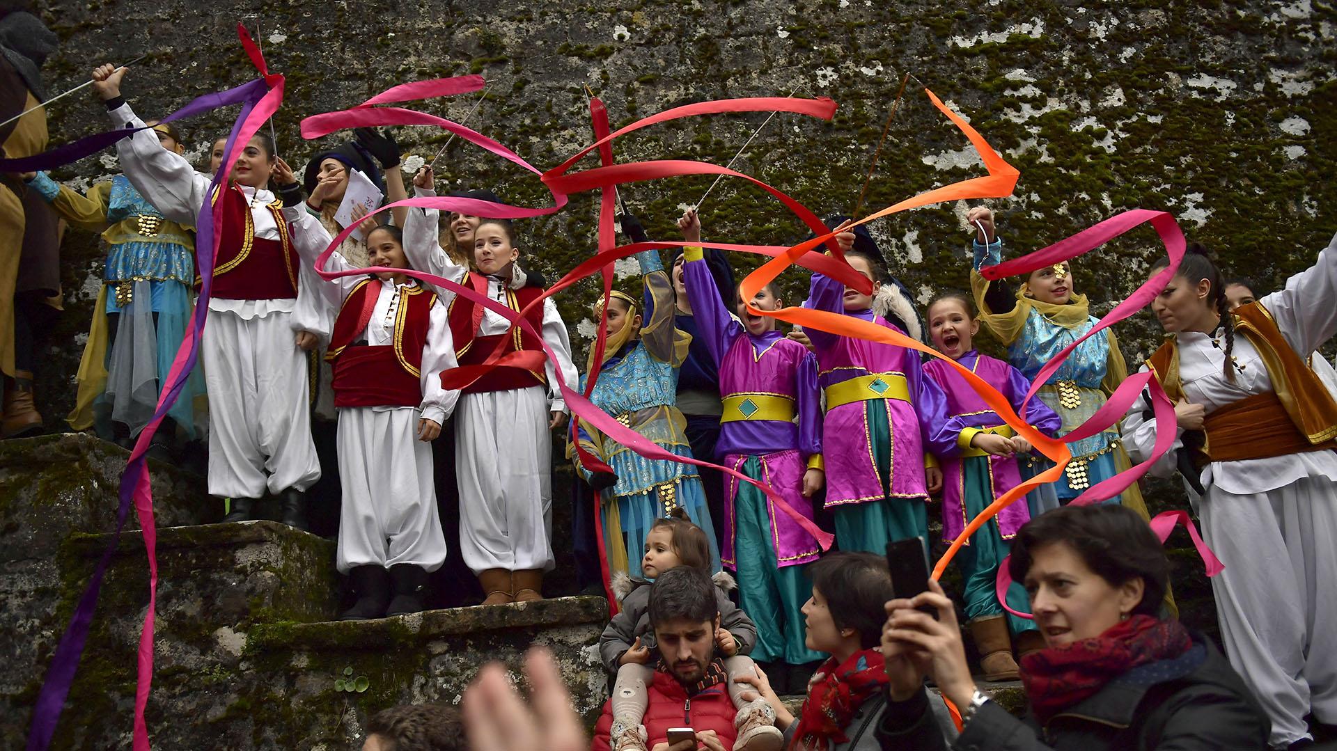 Las celebraciones en Pamplona, España (AP)