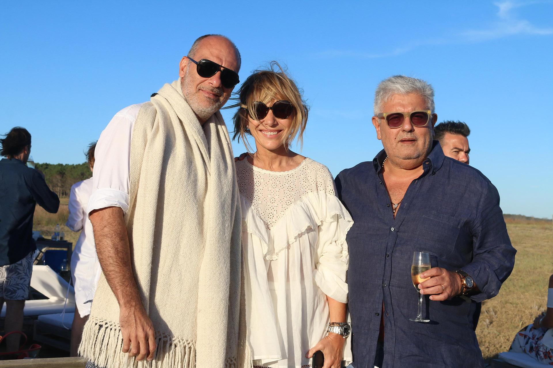 Sergio Barbaro, Grace Ratto y Carlos Gorosito