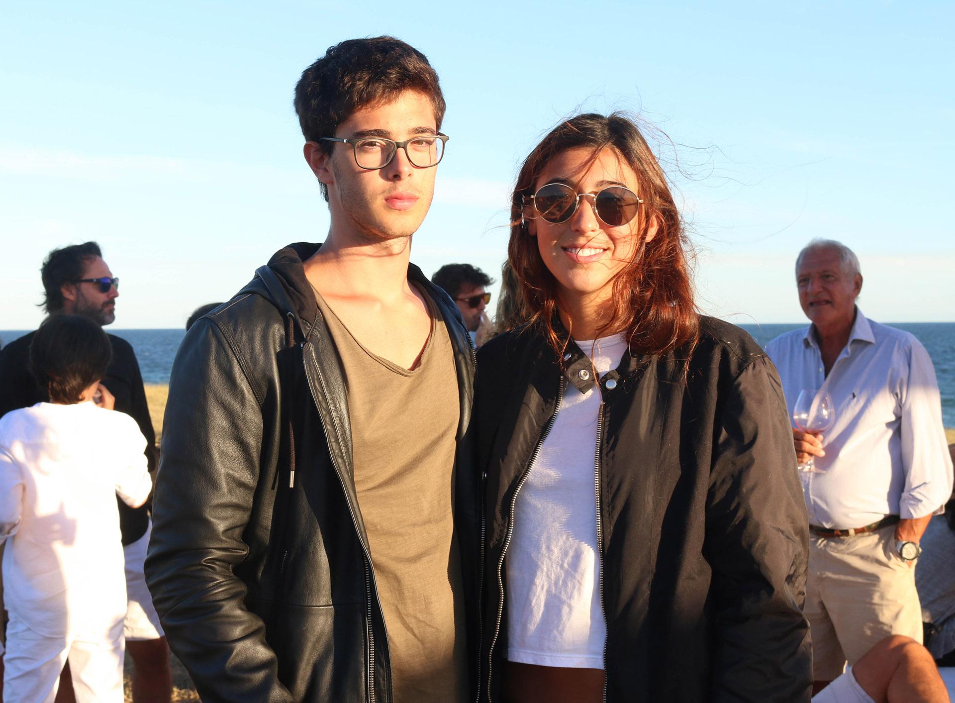 Renata Repetto y su novio