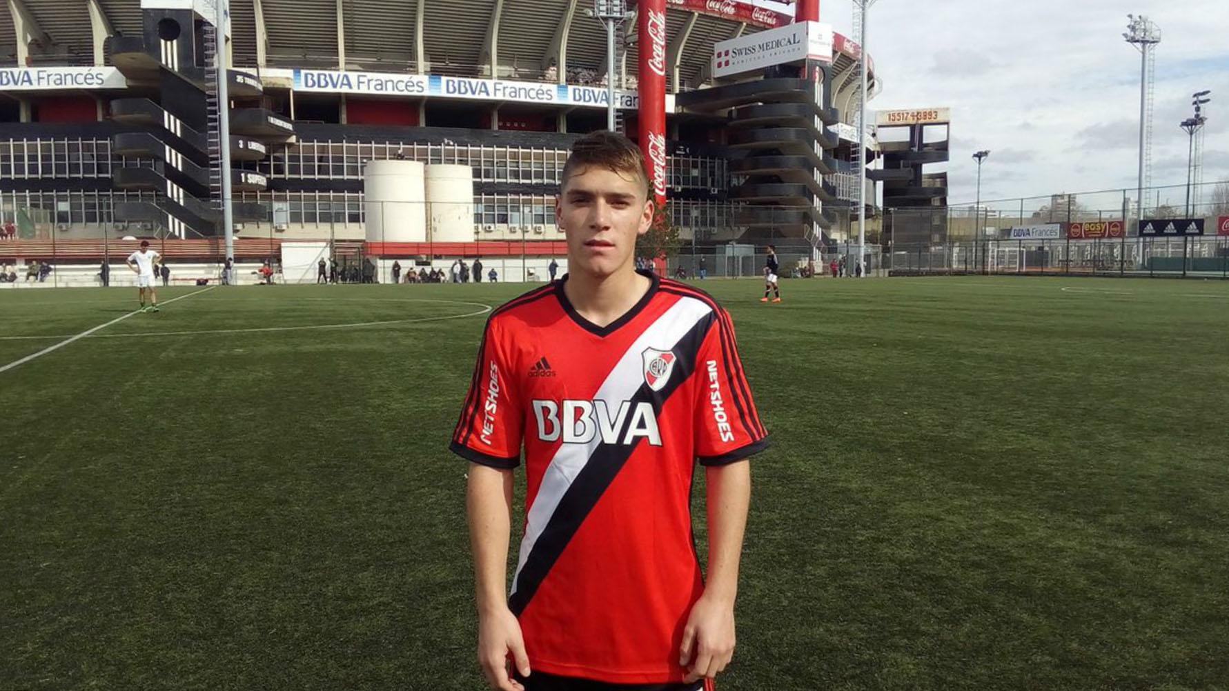 Benjamín Rollheiser, el otro juvenil que aparece en la lista de buena fe de la Libertadores con River