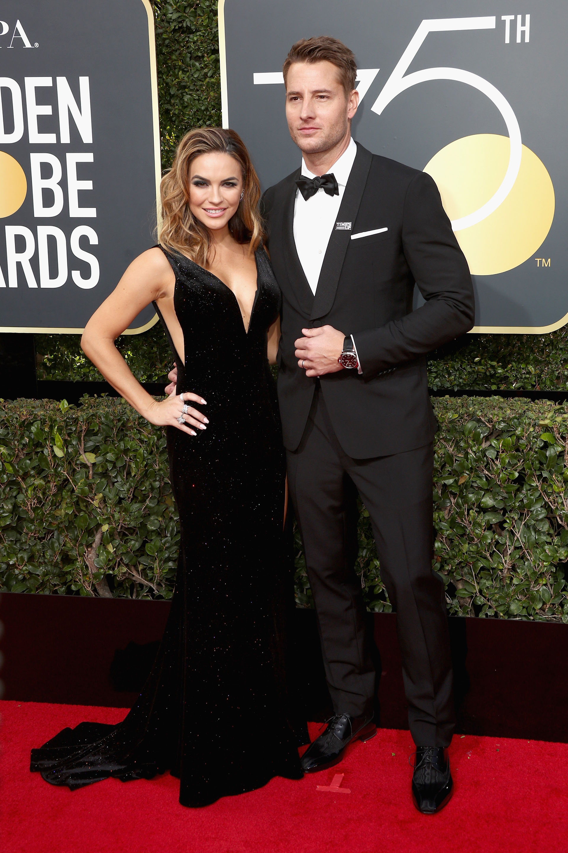Justin Hartley y Chrishell Stause (AFP)