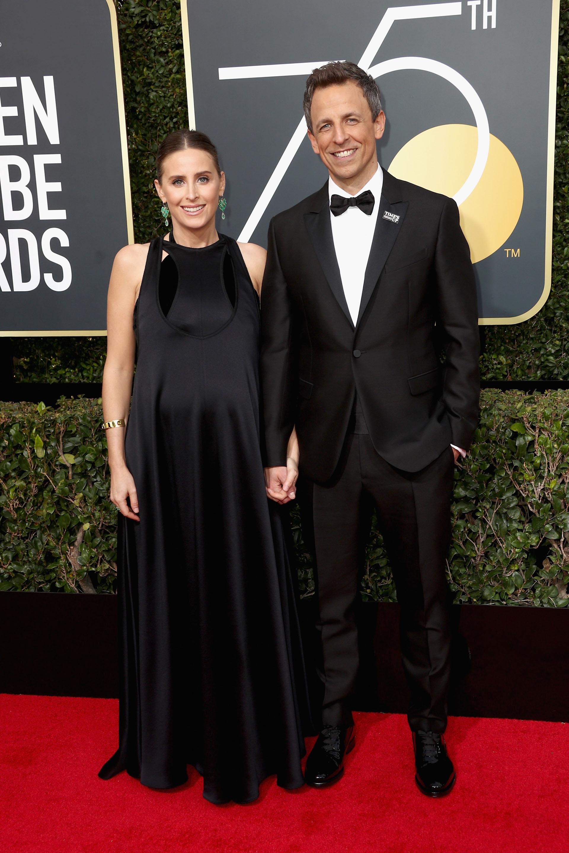 Seth Meyers y Alexi Ashe (AFP)