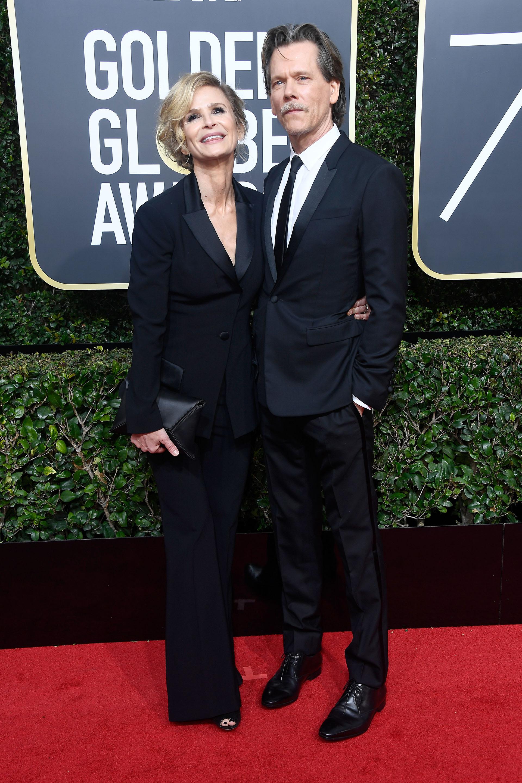 Kyra Sedgwick y Kevin Bacon (AFP)