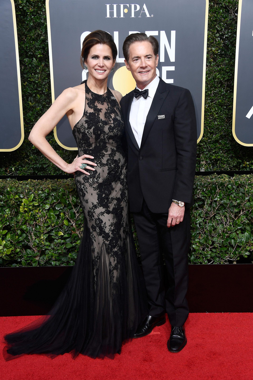 Kyle MacLachlan y Desiree Gruber (AFP)