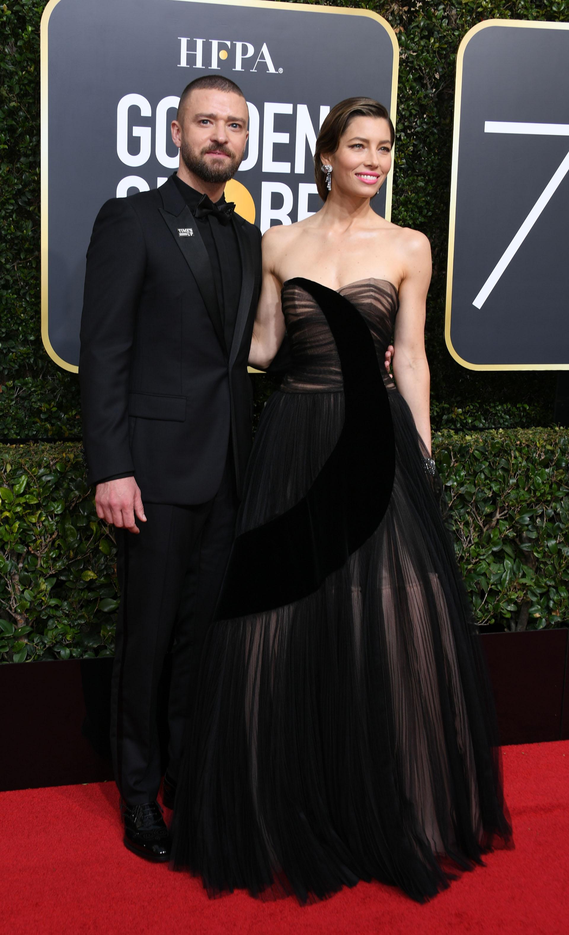 Justin Timberlake y Jessica Biel (AFP)